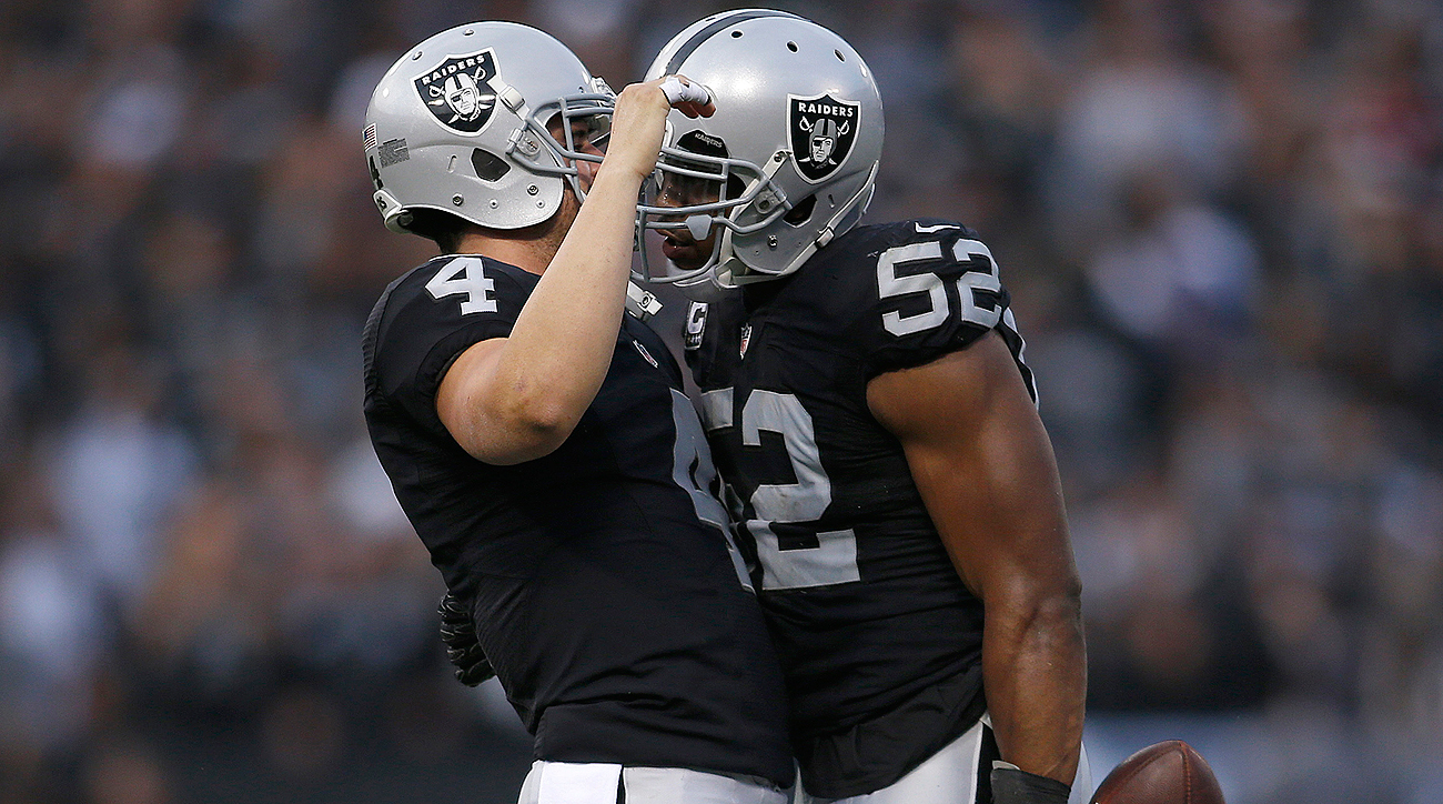 The Raiders, led by Derek Carr and Khalil Mack, would be the No. 1 seed in the AFC if the season ended today. Oakland hasn't made the playoffs since 2002.