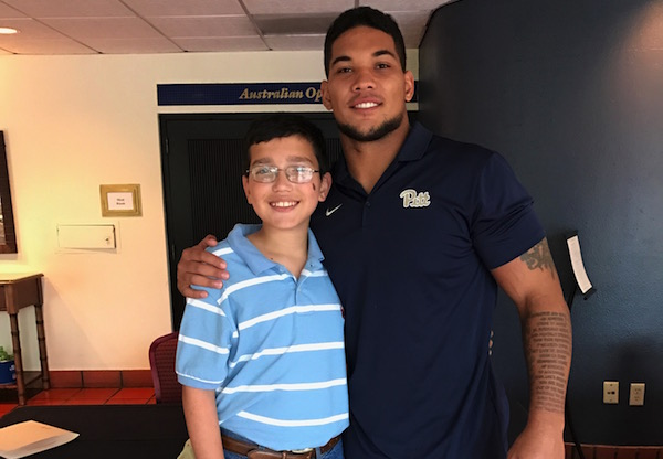 Kid Reporter Dylan Goldman and James Conner