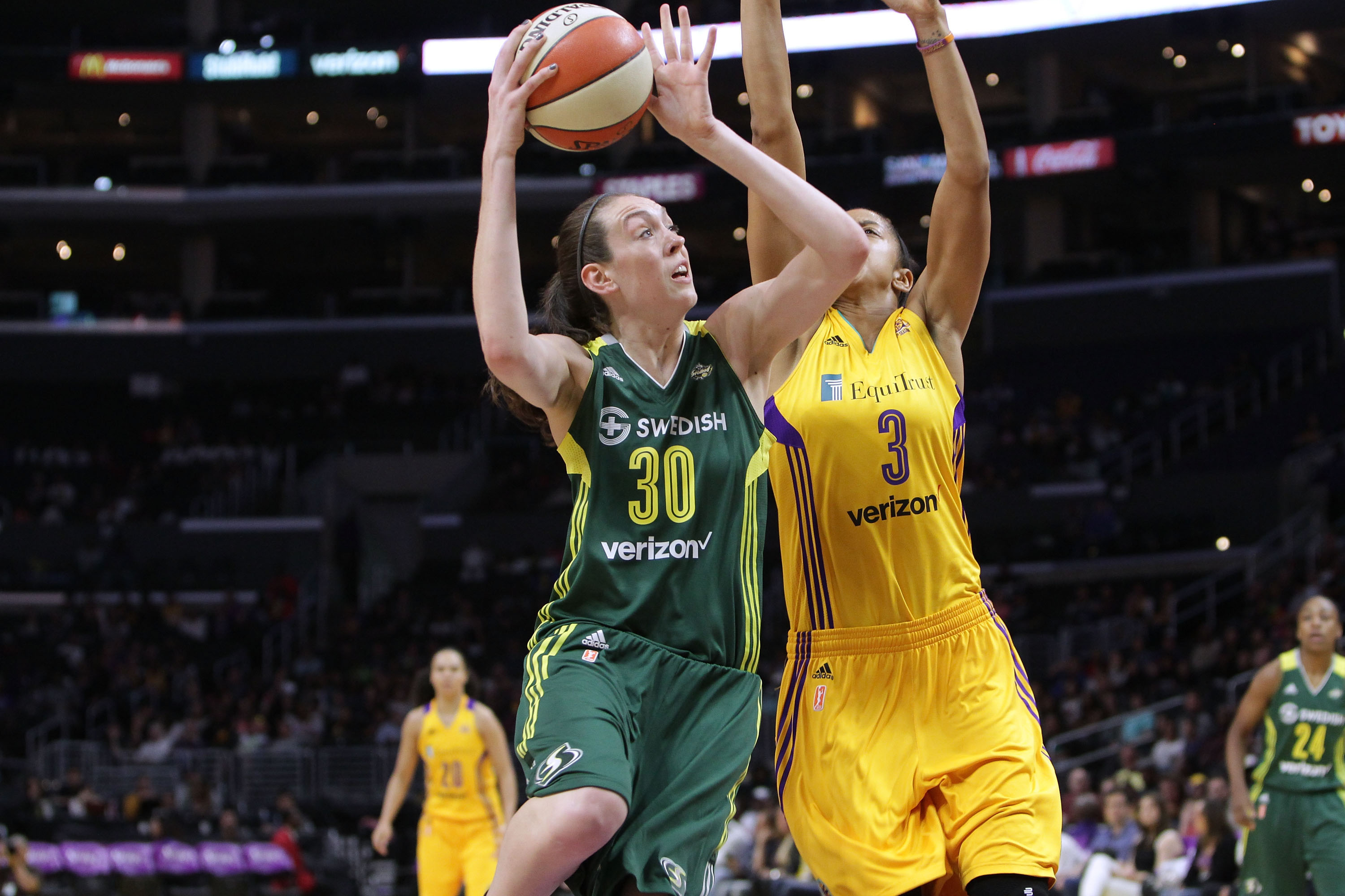 Stewart was a stud at Connecticut, but her stock continued to rise when she entered the WNBA this past season. Stewart won Rookie of the Year honors after averaging 18.3 points, 9.3 rebounds and 1.9 blocks for the Seattle Storm. She led her team to the postseason for the first time since 2013.