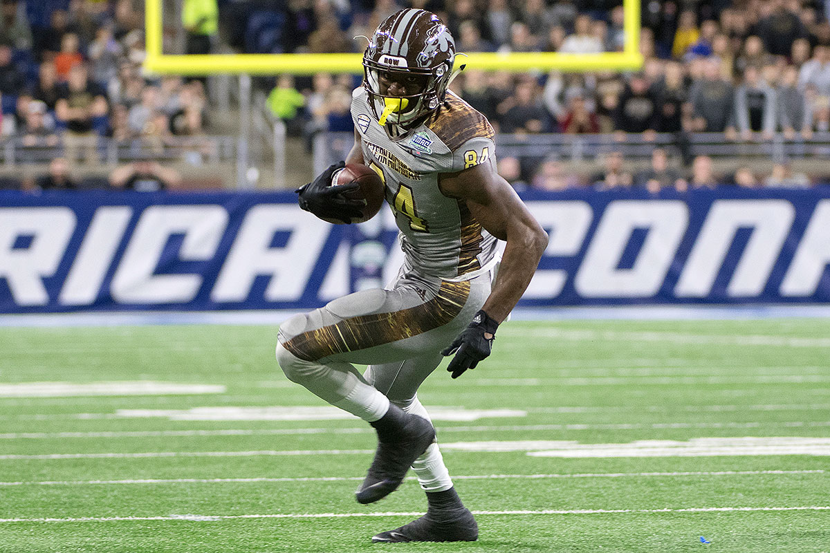 Davis has produced 5,200 yards receiving at Western Michigan, with 628 of those (plus four TDs) coming against Big Ten foes. Even if Wisconsin manages to shut him down, Davis is headed toward a first-round selection. He can line up anywhere, runs crisp routes and accelerates in the blink of an eye when he wants to get upfield.