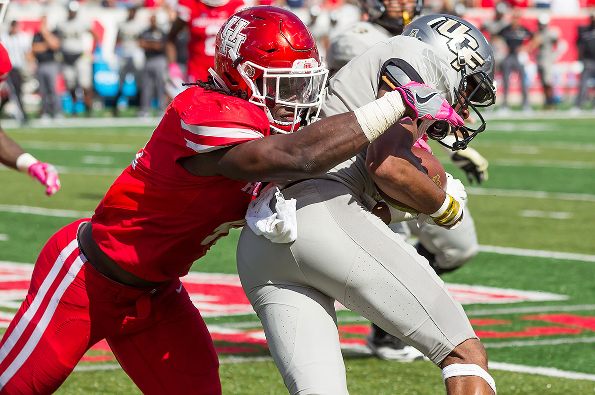 Led by 2019 first-rounder Ed Oliver, the D-line got most of the headlines when Houston's defense performed well this season, but Taylor has NFL linebacker size and is a steady, efficient presence up the middle. He will be charged with keeping stat-stuffing San Diego State running back Donnel Pumphrey (who is also bound from the pros) from getting loose.