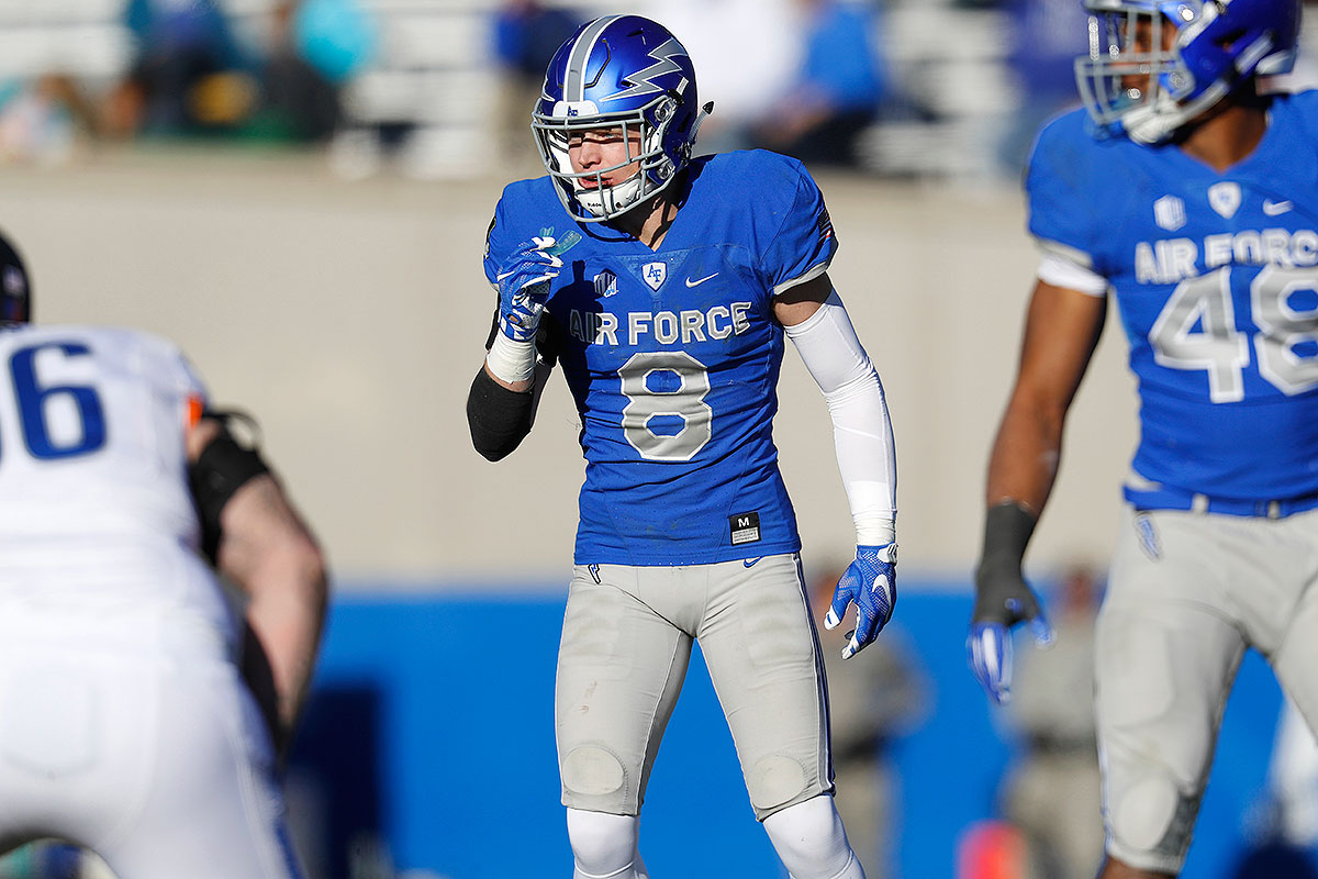 A finalist for the Lott IMPACT Trophy, a postseason award that balances defensive performance and personal character, Steelhammer leads Air Force with 75 tackles this season, and his six interceptions tied him for fifth in the country. Air Force, winners of five straight, is facing six-win South Alabama, which should be a perfect opportunity for this defensive star to shine in his final NCAA game.