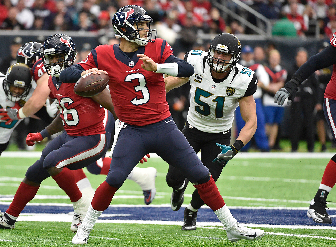 Tom Savage came off the bench to help lead the Texans to a comeback win over the Jags.