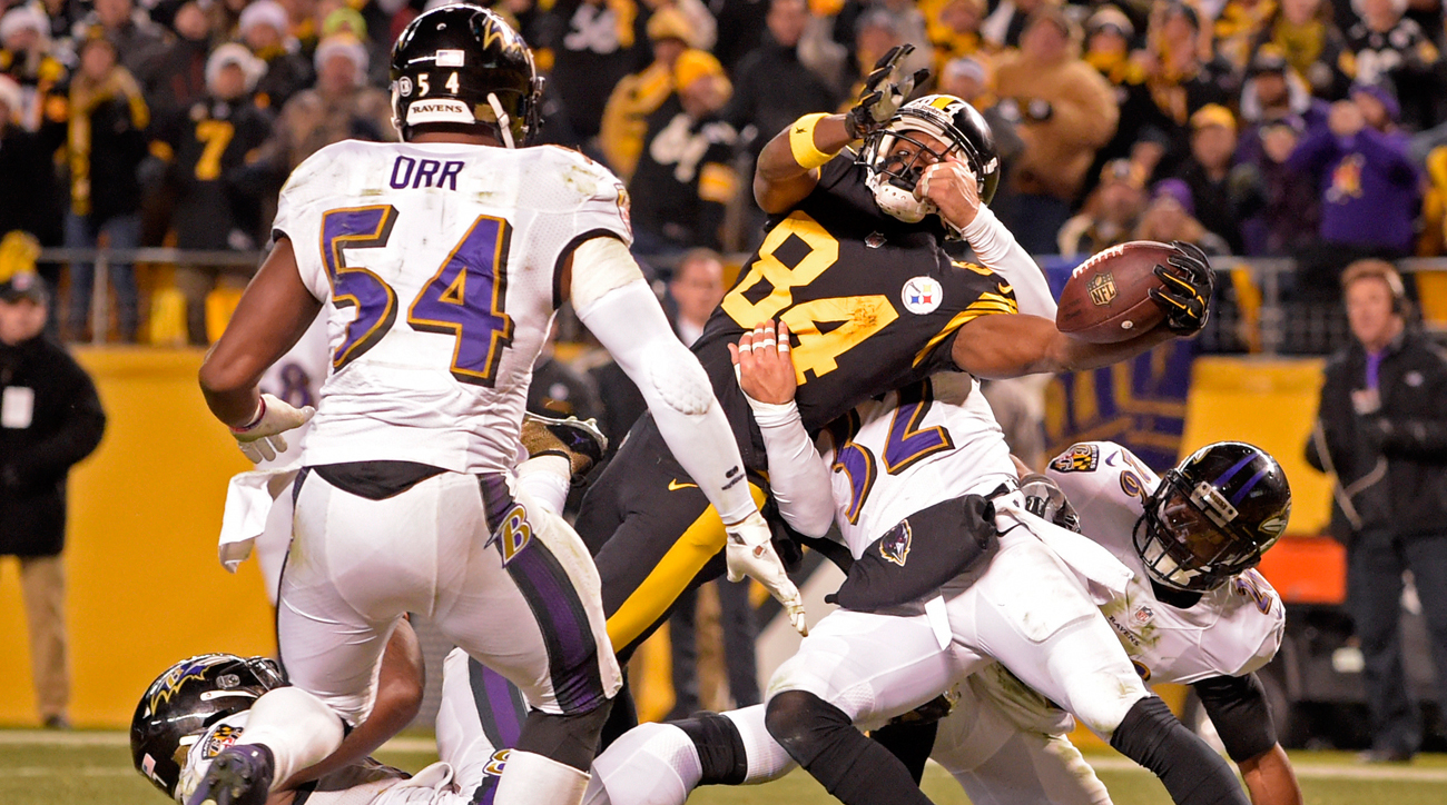 Antonio Brown's final stretch over the goal line gave the Steelers their fifth AFC North title in the past 10 seasons.