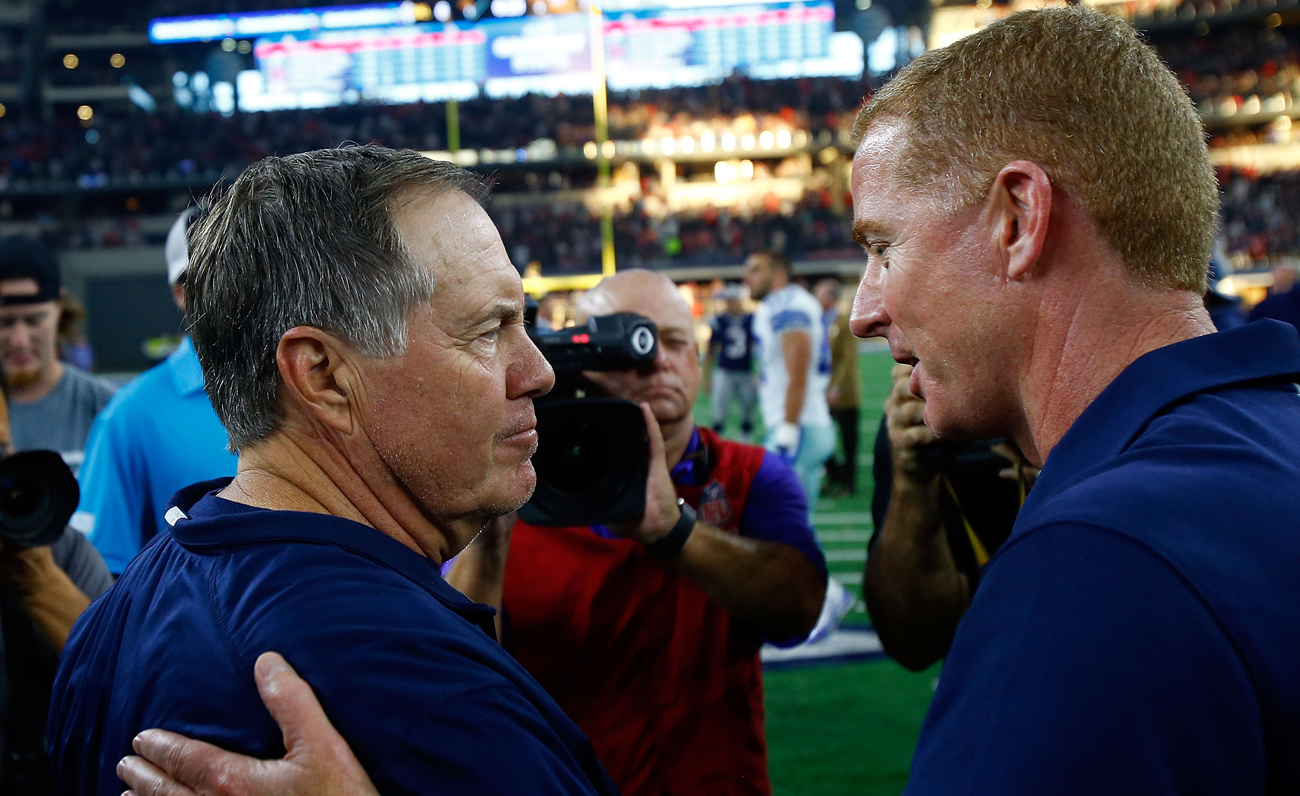 Bill Belichick and Jason Garrett have led their teams to the top of their conferences.