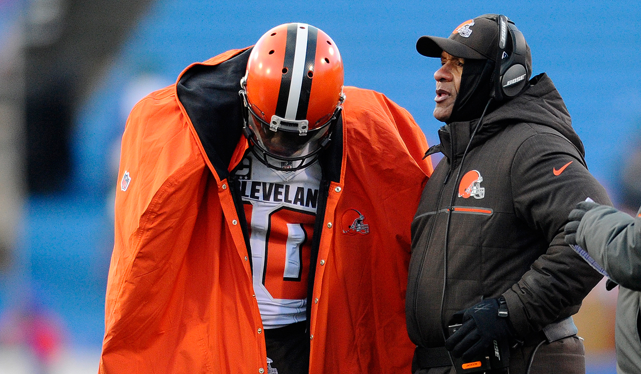 Robert Griffin III clearly hasn't been the answer, so job No. 1 in the offseason for Hue Jackson and the Browns: finding a franchise quarterback.