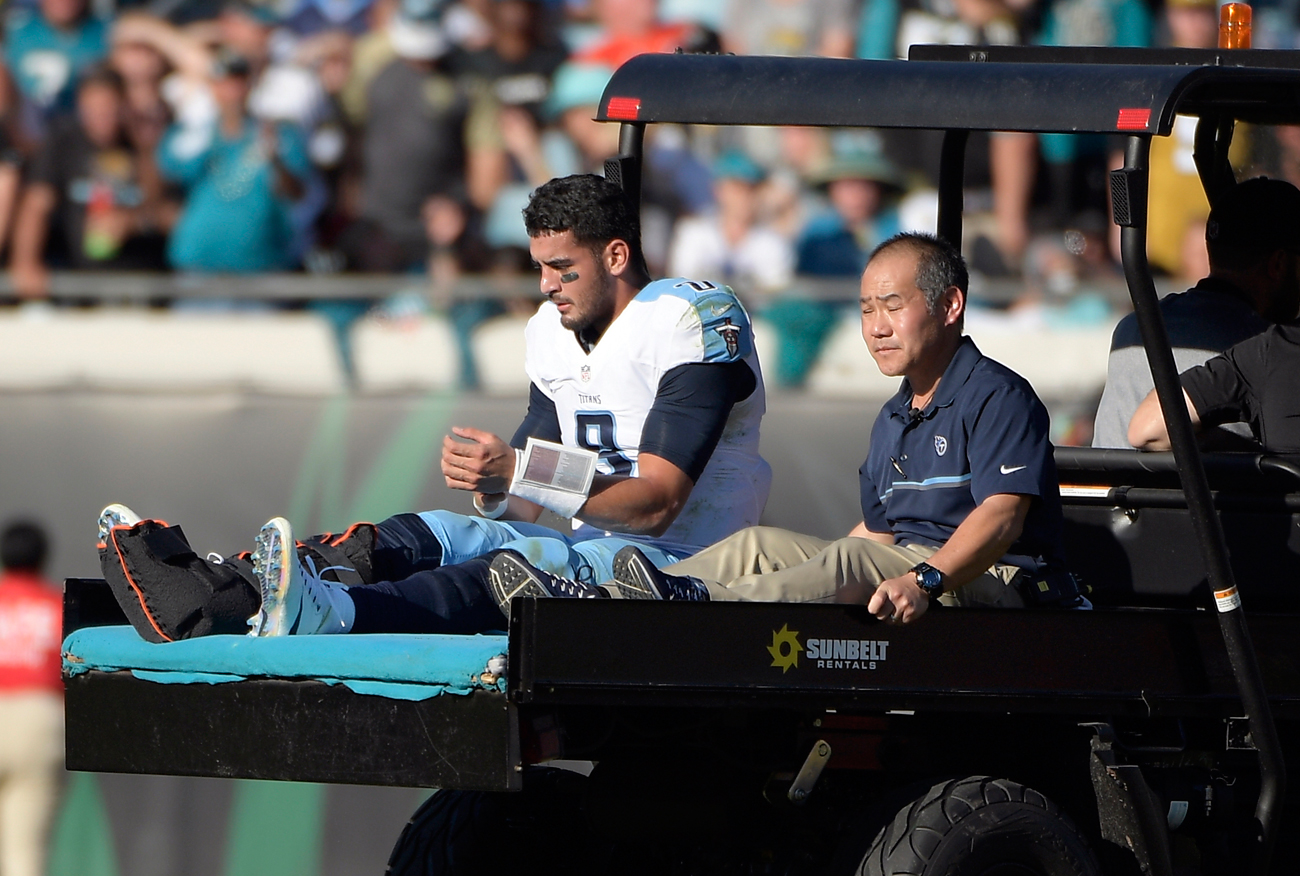 Marcus Mariota needs 4-5 months to recover from a broken fibula, putting him on track to return for OTAs in the spring.