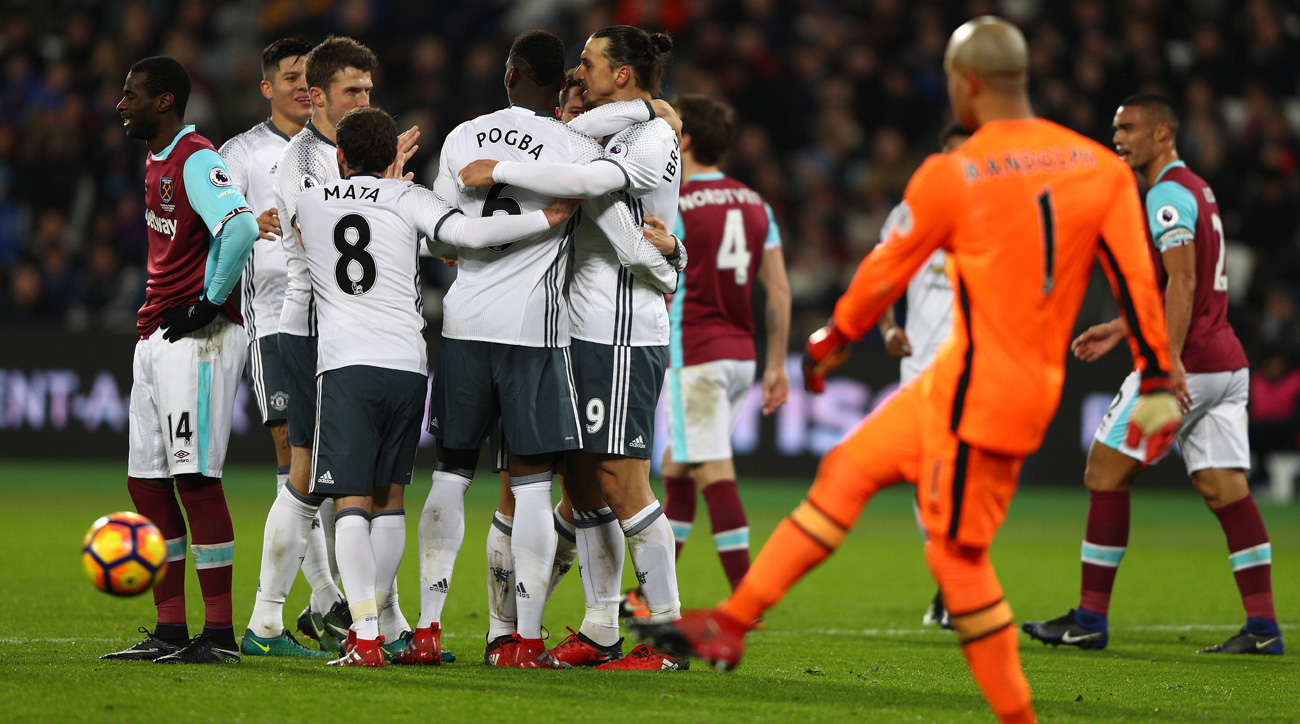 Manchester United beats West Ham for a sixth straight win