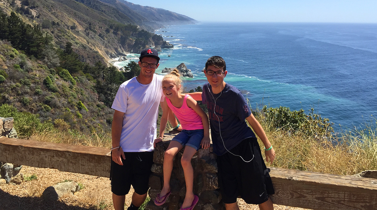Calvin (L) and his siblings Bria and Justin.