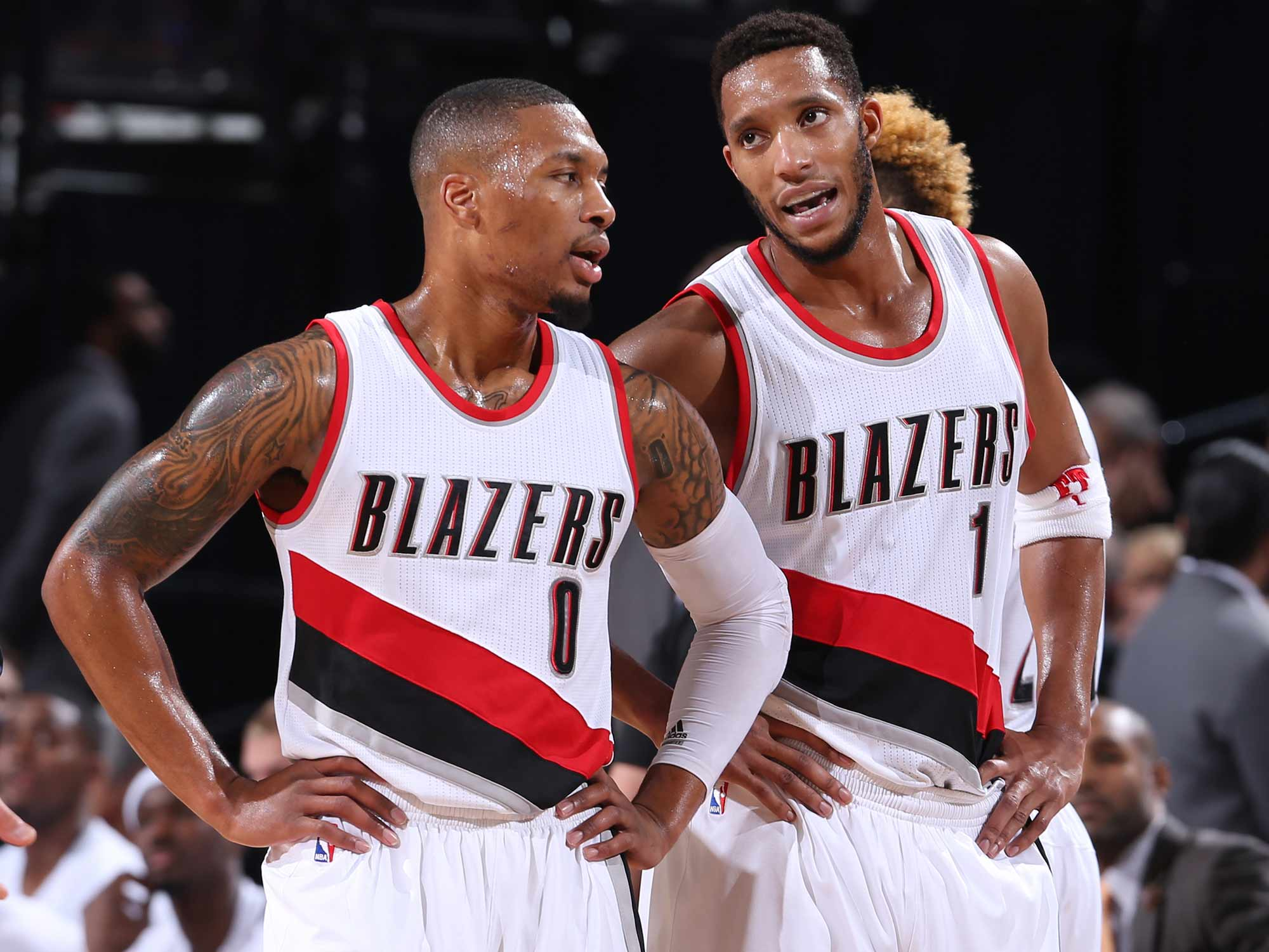 Damian Lillard and Evan Turner