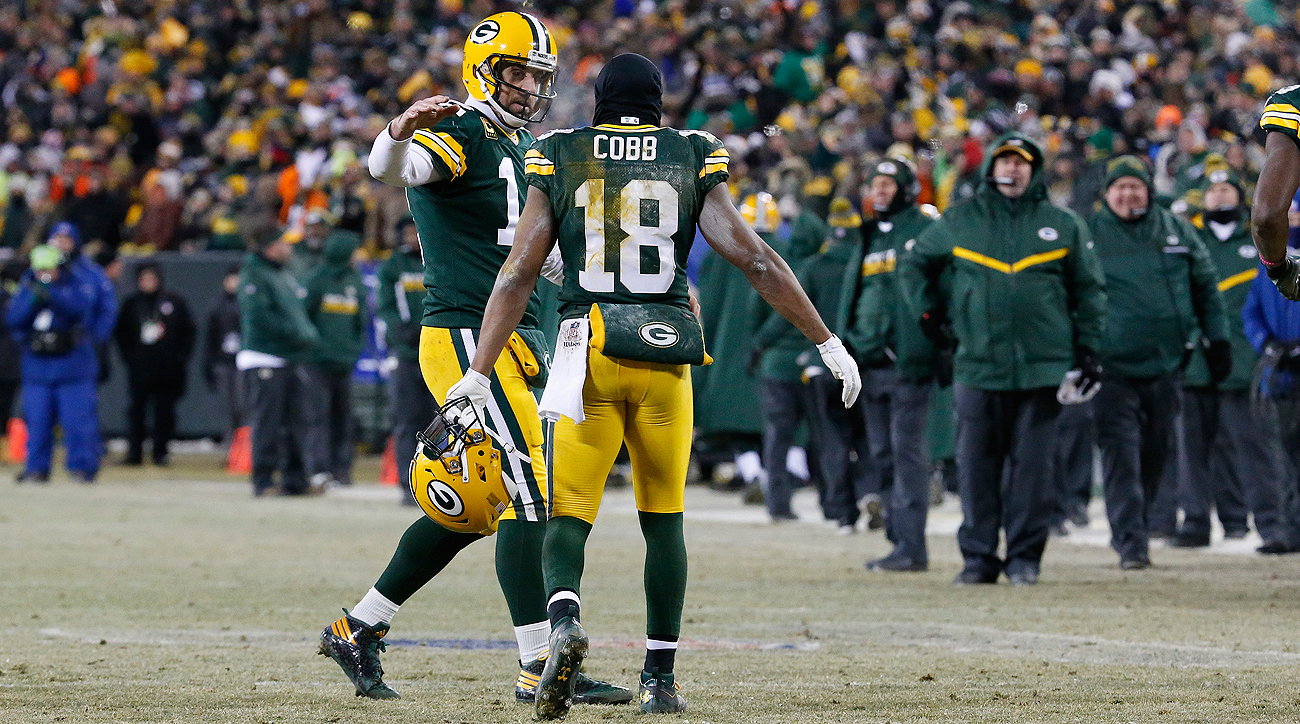 da46ccf50 Aaron Rodgers and Randall Cobb connected five times for 116 yards and three  touchdowns against the