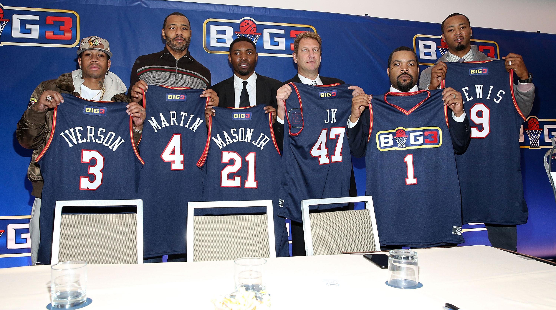 ... Shirts Allen Iverson will be playercoach in Ice Cubes 3-on-3 league SI.  Philadelphia 76ers 3 Allen Iverson Soul Swingman ... 305f09ba3