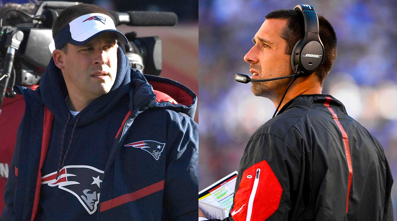 Josh McDaniels and Kyle Shanahan are top candidates for the 49ers job.