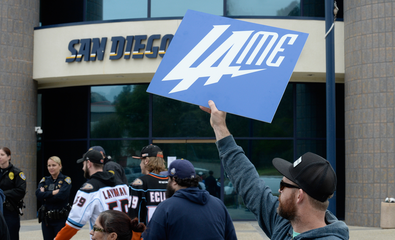 San Diego fans were quick to show their displeasure after the Chargers announced they were relocating to Los Angeles.