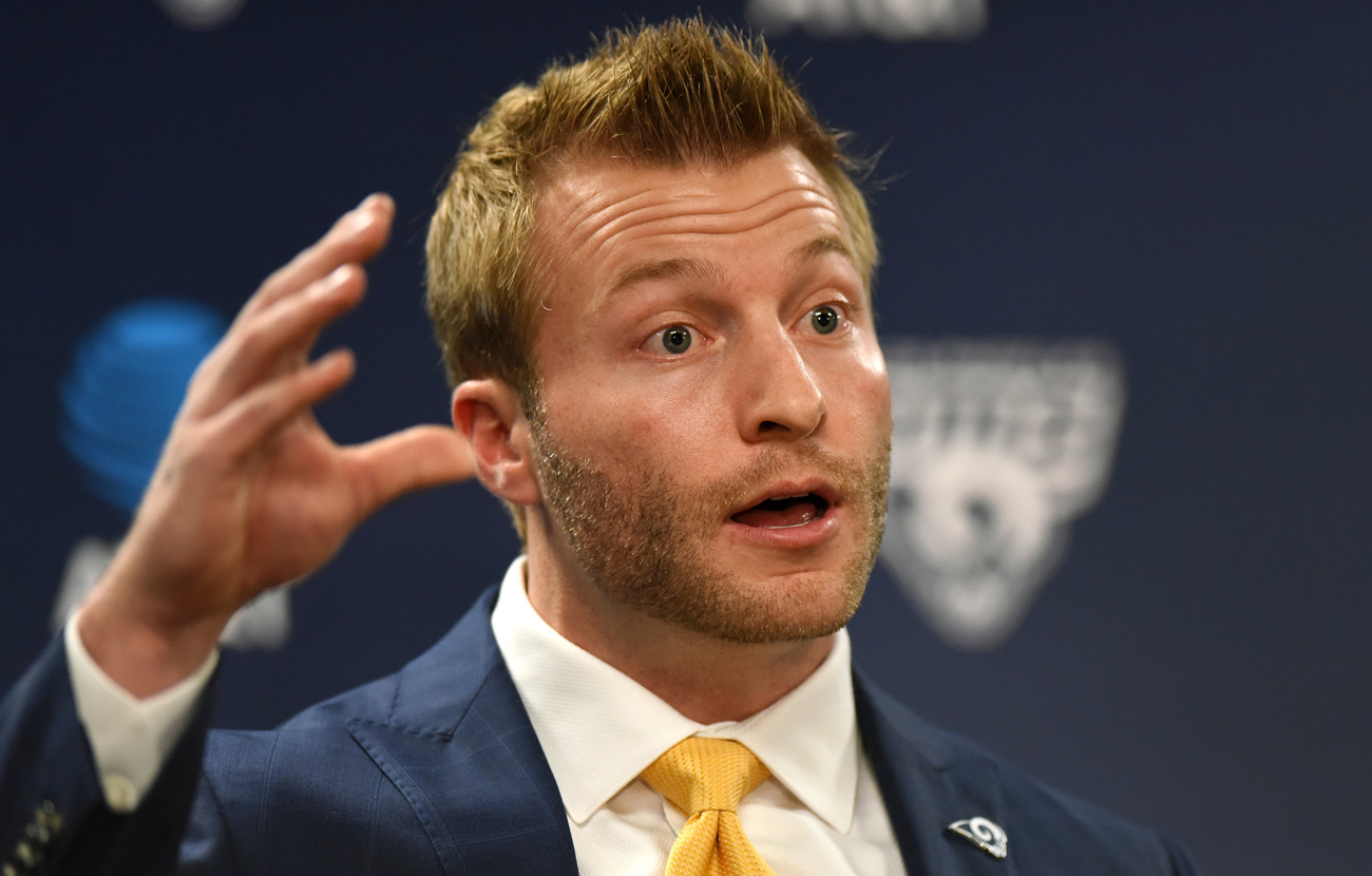 Sean McVay landed his first head-coaching job with less than a decade of experience in the NFL.