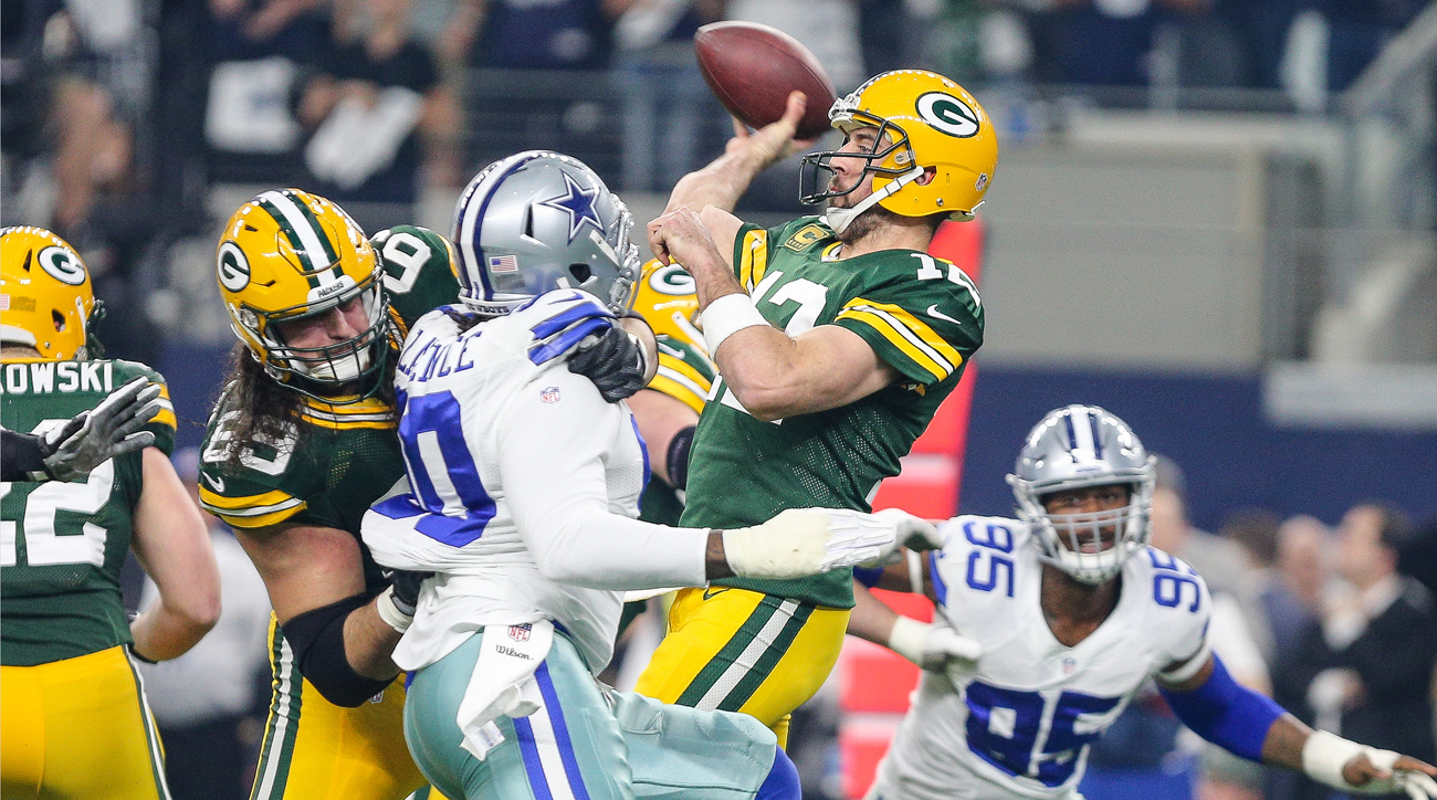 Aaron Rodgers' play during the Packers' current eight-game streak might have peaked against the Cowboys.