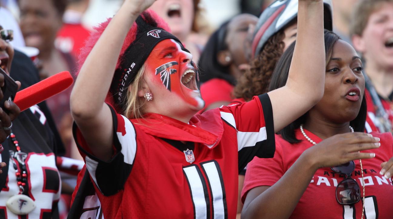 Falcons Complicated Relationship With Atlanta SIcom - Atlanta falcon us fan map