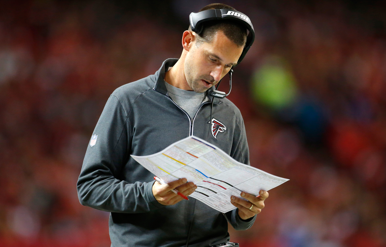 Kyle Shanahan is expected to take the 49ers' job once the Falcons season ends.
