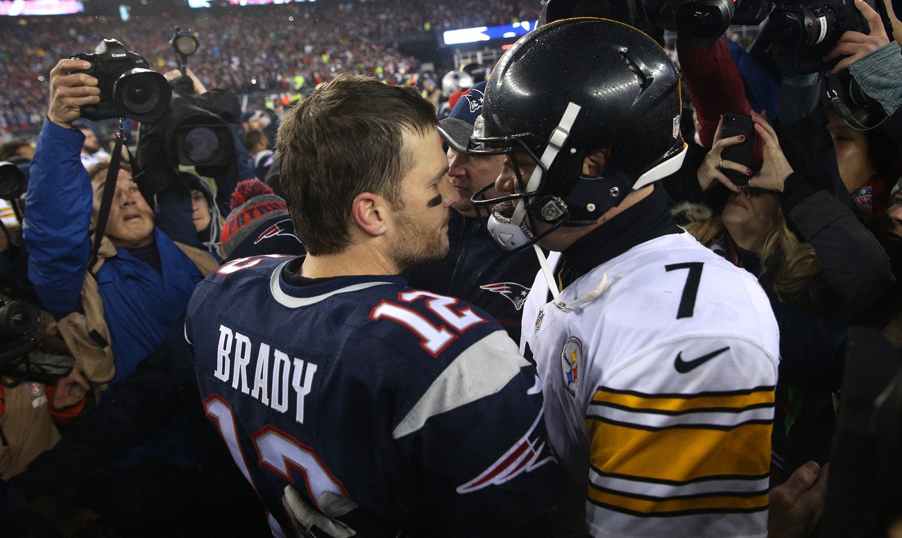 Tom Brady's Patriots are now 7-2 all-time against Ben Roethlisberger's Steelers, dating back to the 2004 season.