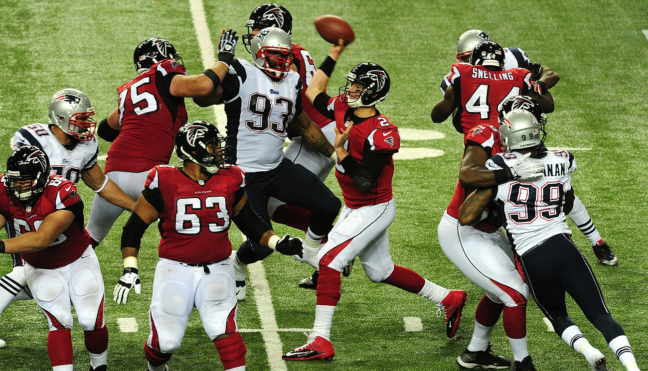 The Pats and Falcons haven't played since a Sept. 29, 2013, meeting at the Georgia Dome.