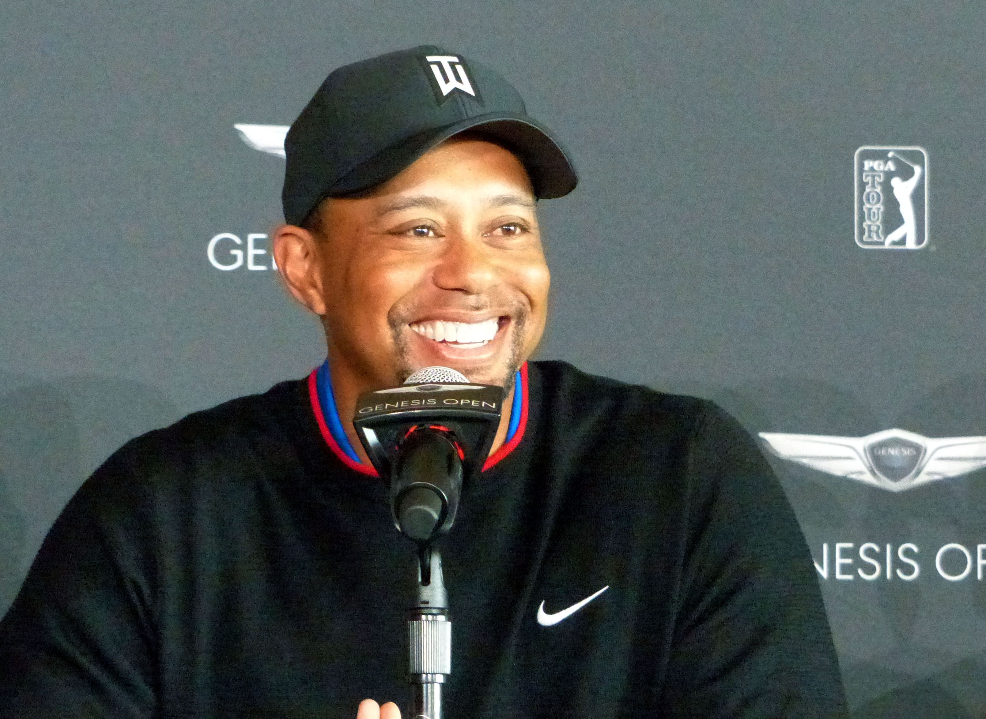 Tiger Woods speaks to the media ahead of the Farmers Insurance Open, his first professional tournament since 2015.