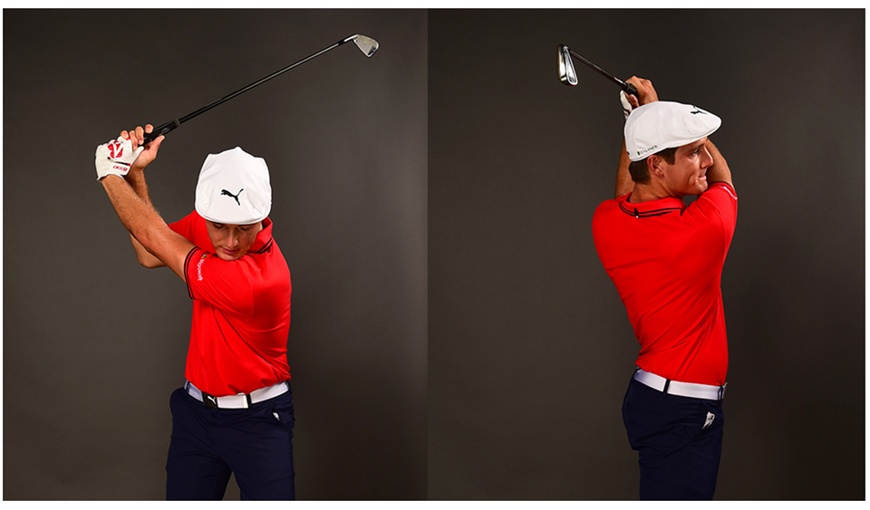 In a single-plane swing, you simply rotate back and through. There's no need to move laterally, or to aggressively shift your weight.