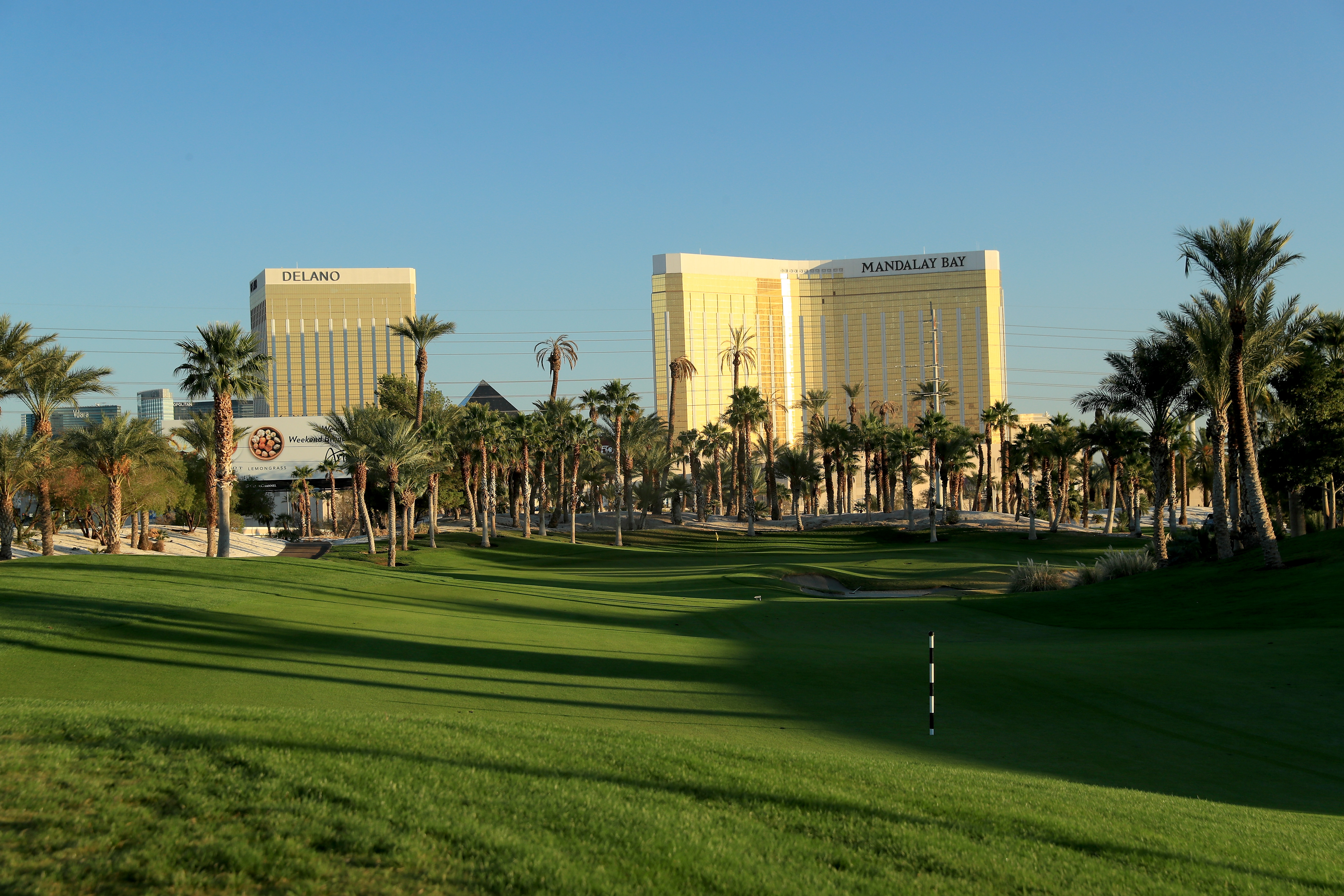 The par 4, eighth hole at the Bali Hai Golf Club in Las Vegas.
