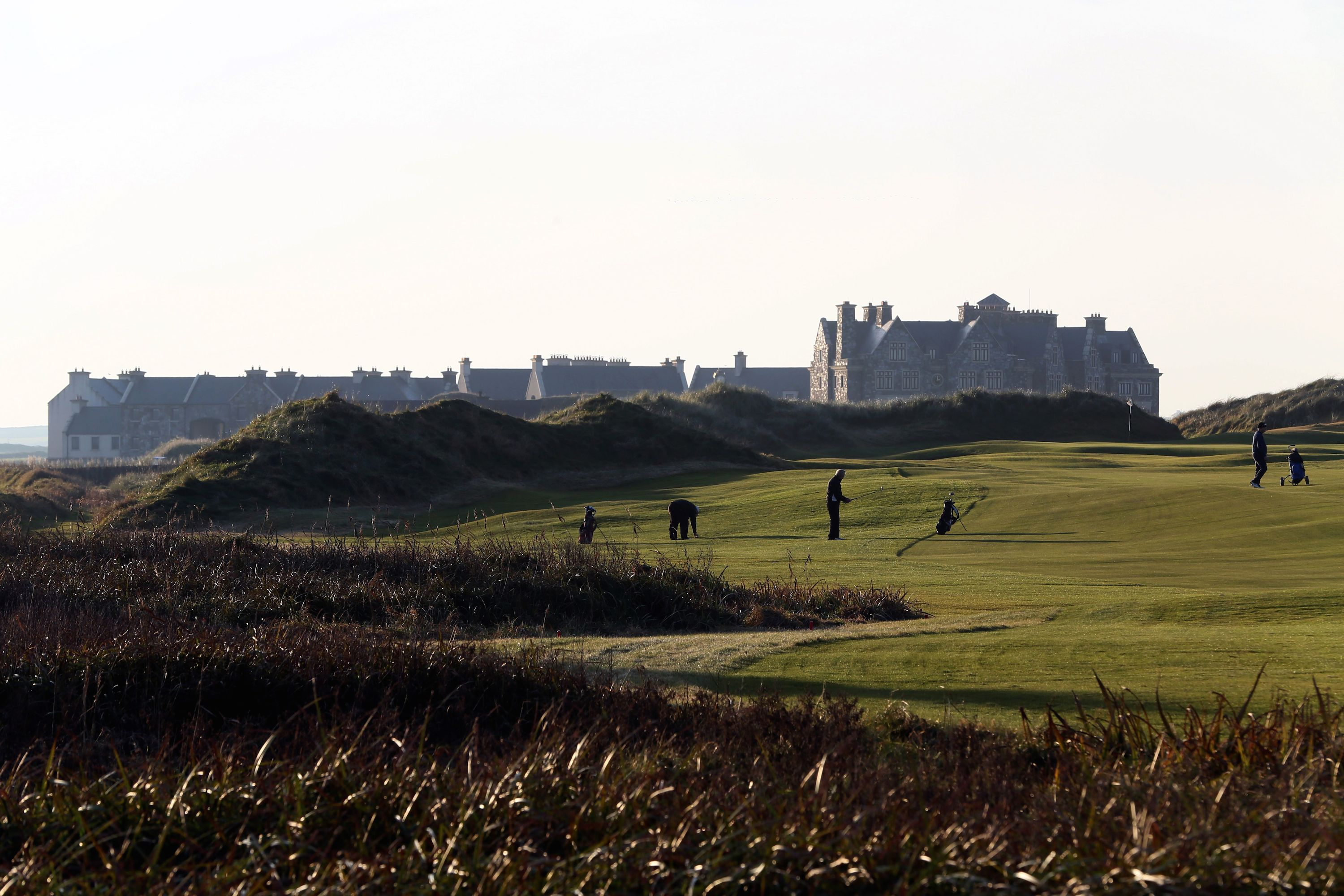 This 2002 Greg Norman design was sculpted from massive sandhills at the ocean's edge. Always a fan favorite, despite some design hiccups caused by environmental issues, Doonbeg's flaws were fixed by architect Martin Hawtree in 2015-'16. Greens were re-contoured or repositioned and several holes were redesigned, including a new beachside par-3 14th.