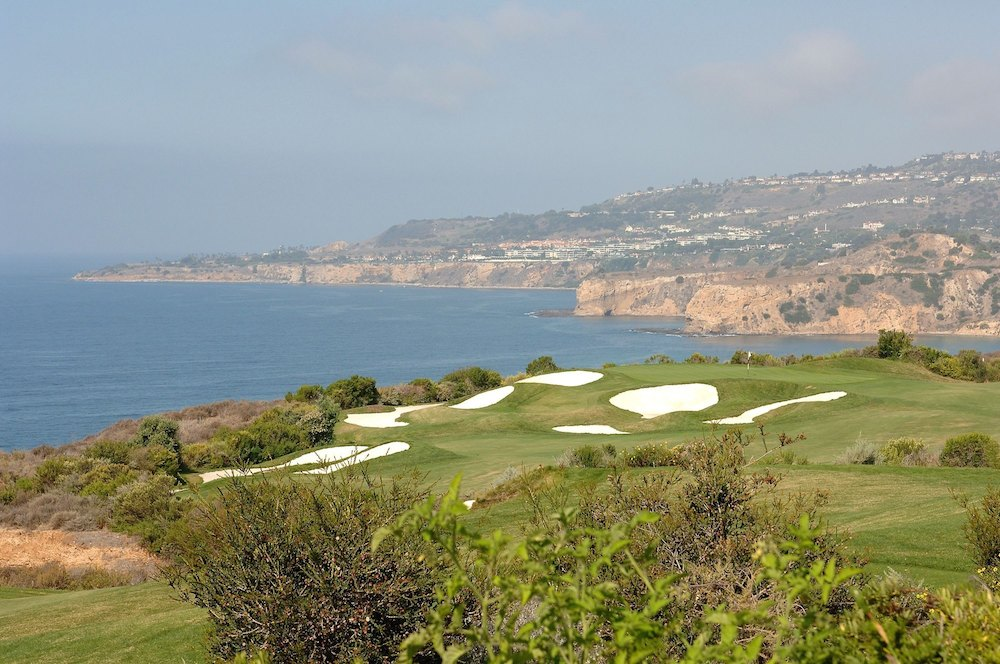 The world's only Donald J. Trump Signature design features a spectacular bluff-top setting above the Pacific, some 40 minutes south of LAX.  Somewhat hemmed in amid the rolling horse country of the Palos Verdes Peninsula, few courses in America offers such exquisite vistas. Pete Dye and Tom Fazio contributed to Trump's original design and recently, Gil Hanse has installed some classical features.
