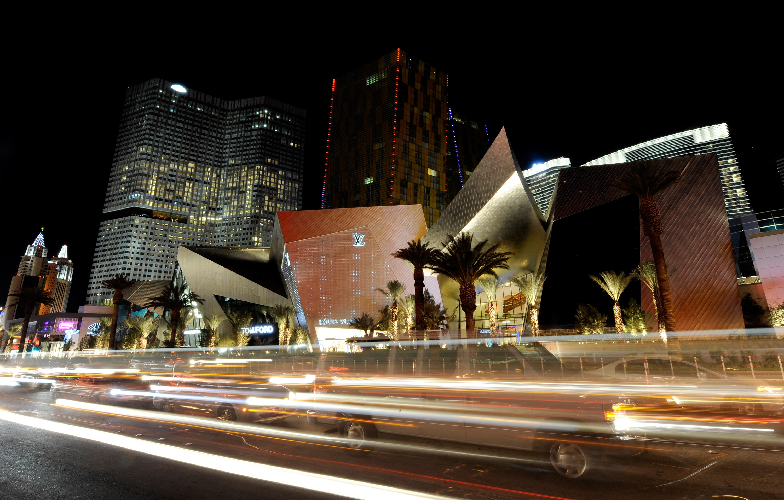 The luxury shopping center Crystals in Las Vegas.