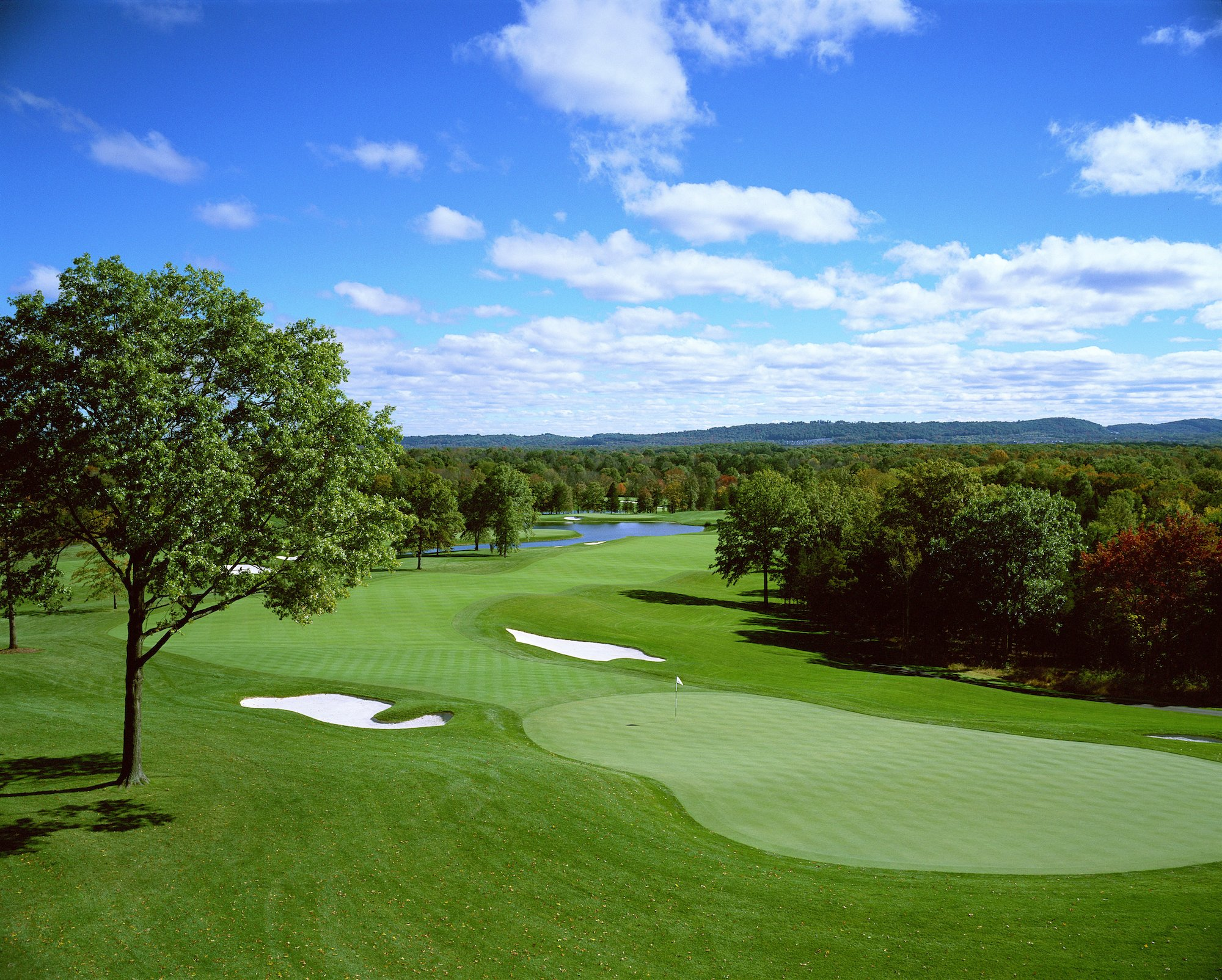 Venue for the 2017 U.S. Women's Open and 2022 PGA Championship, this 2004 Tom Fazio creation unfolds over rolling horse country terrain in rural New Jersey.  Its massive scale provides for a 7,560-yard layout, with huge bunkers, extra-large greens and plenty of risk/reward options. A 2015 redesign involving the closing holes has been well-received.
