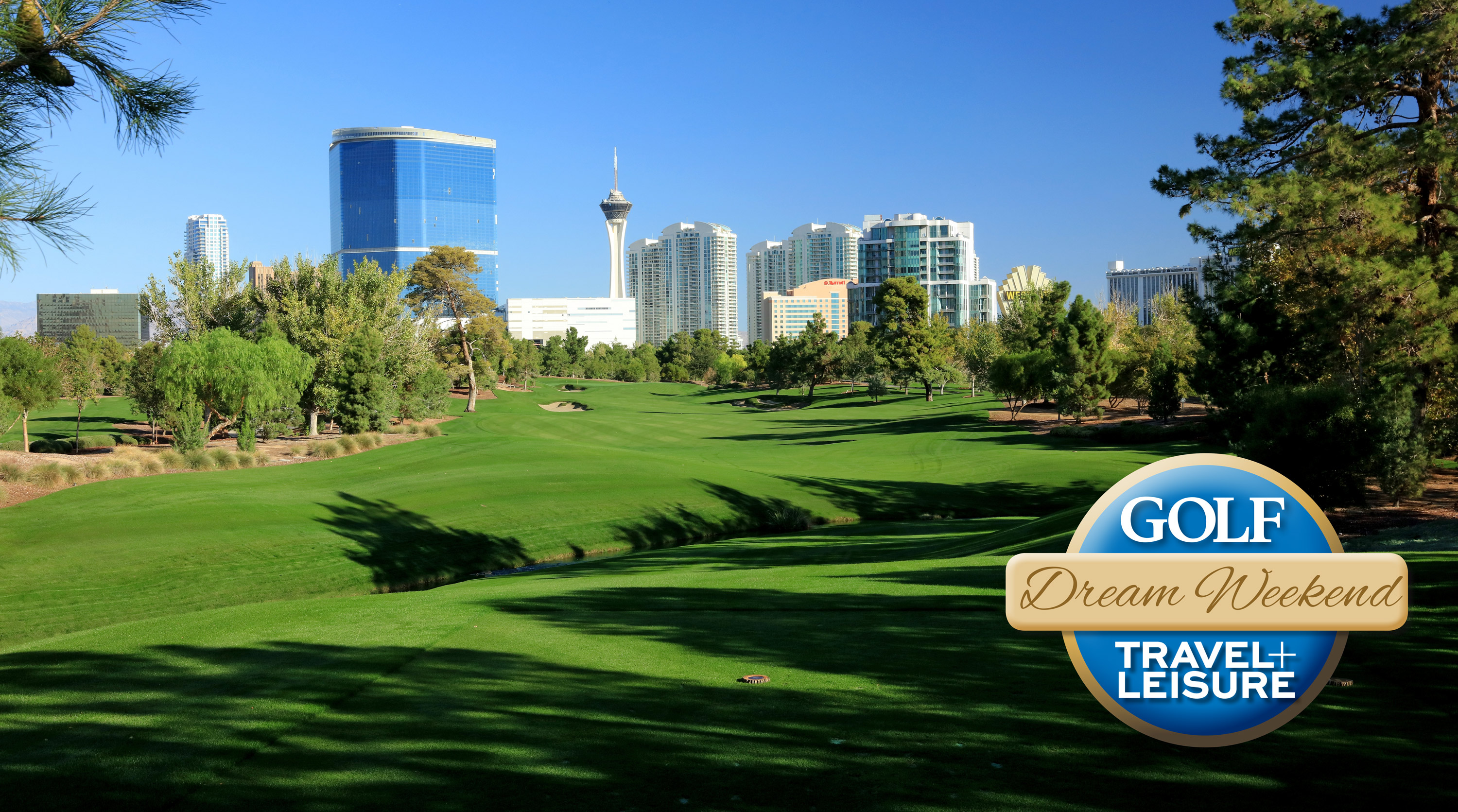 The 449 yards par 4, fourth hole at the Wynn Golf Club in Las Vegas.