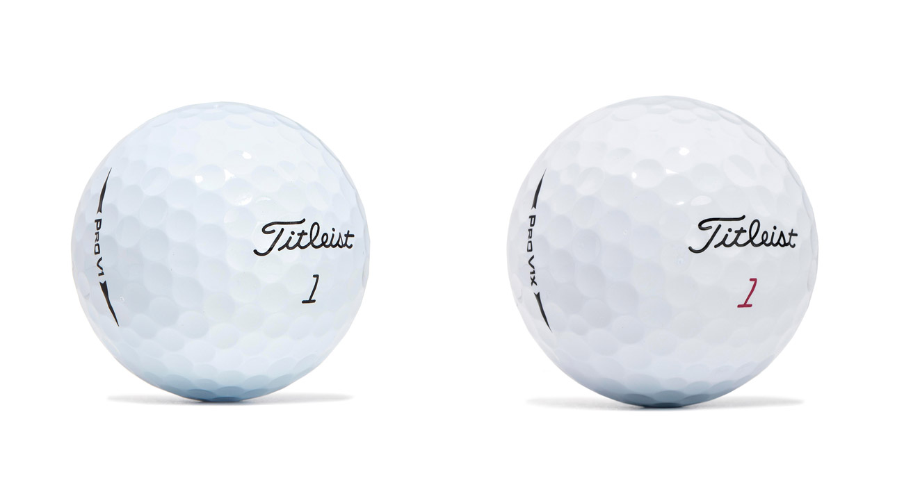 The new Titleist Pro v1 and Pro V1x golf balls for 2017.