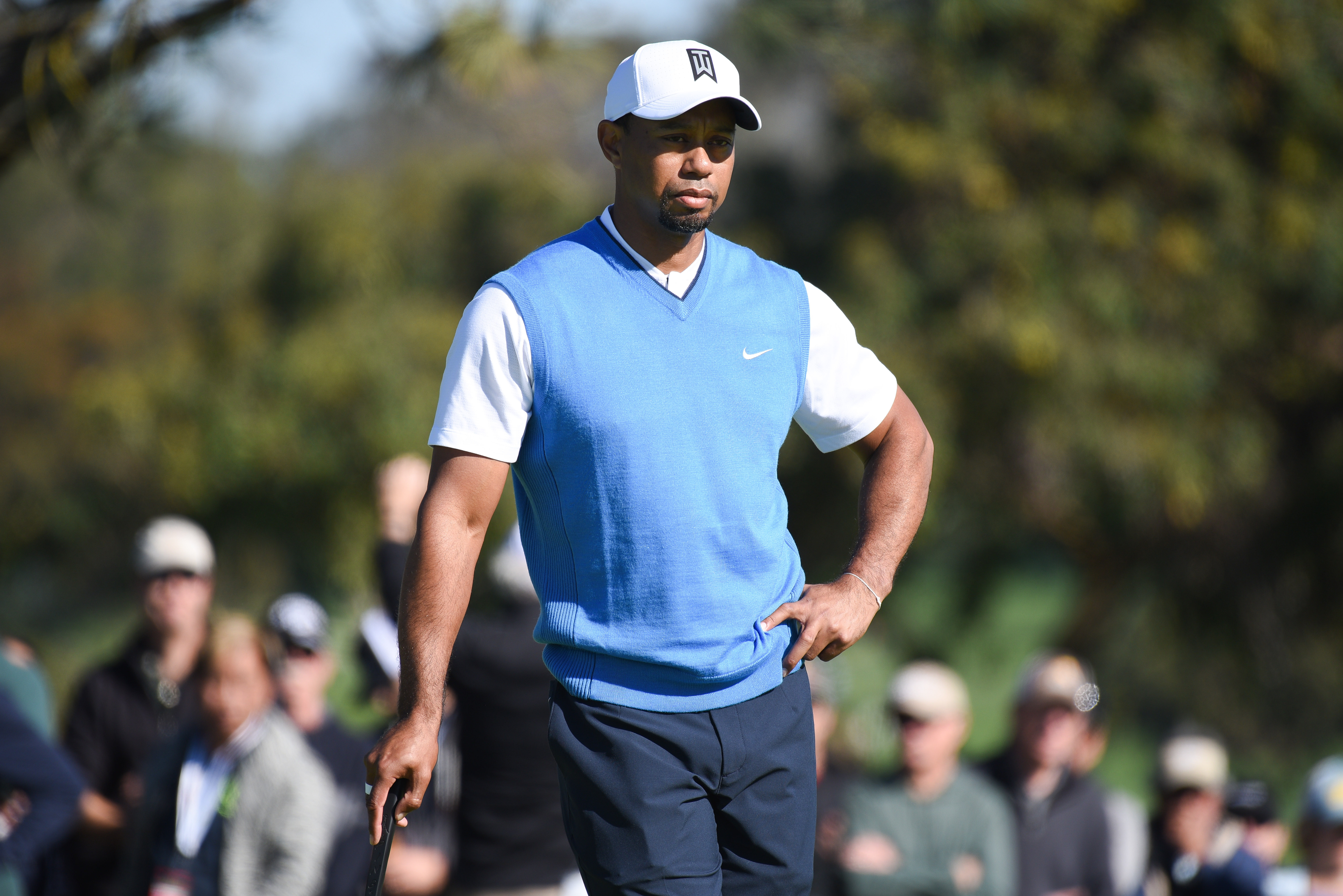 Tiger Woods during the first round of the 2017 Farmers Insurance Open at Torrey Pines.