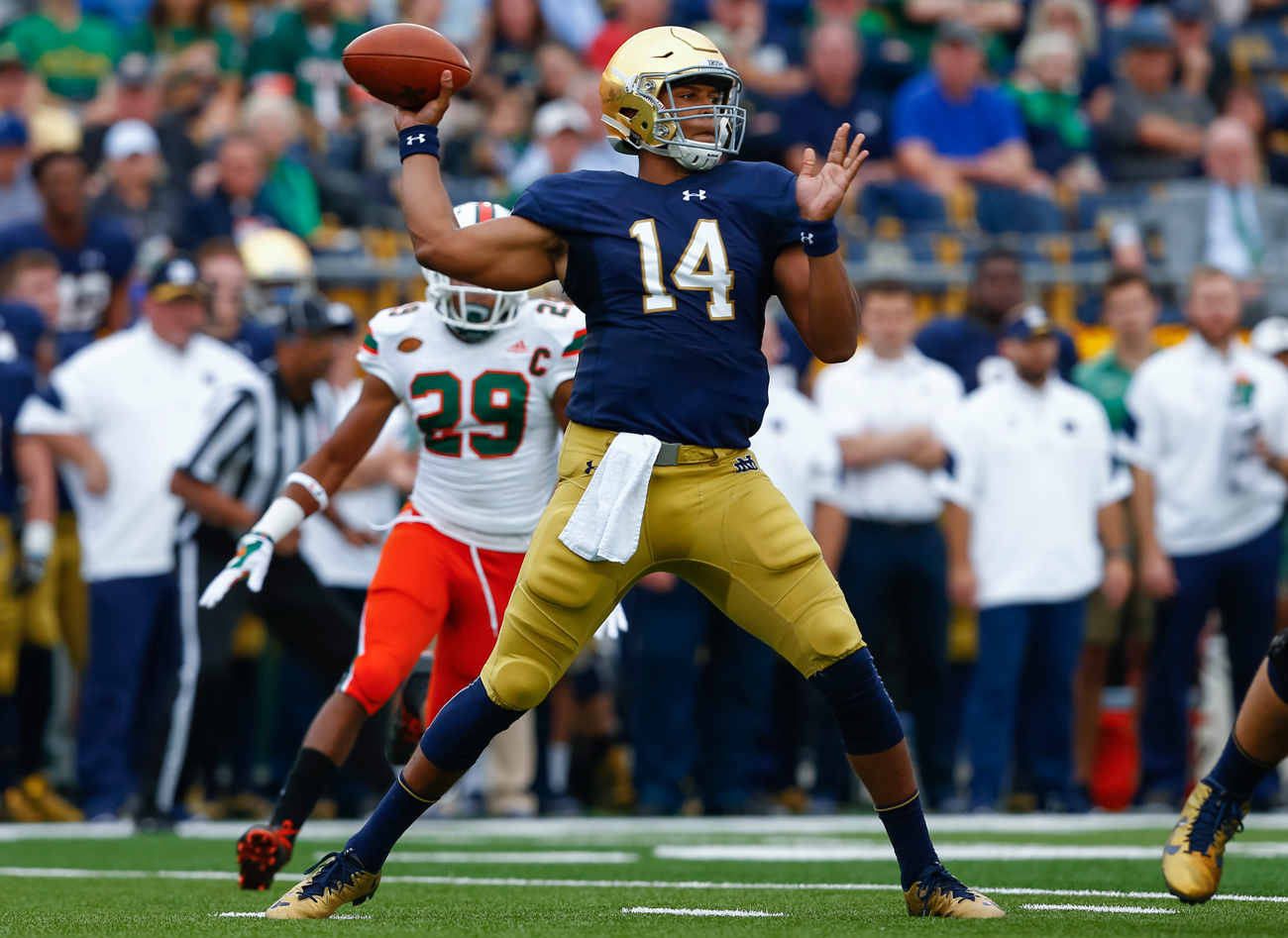 Some scouts believe it will take Notre Dame's DeShone Kizer a couple years to transition into an NFL-ready quarterback.