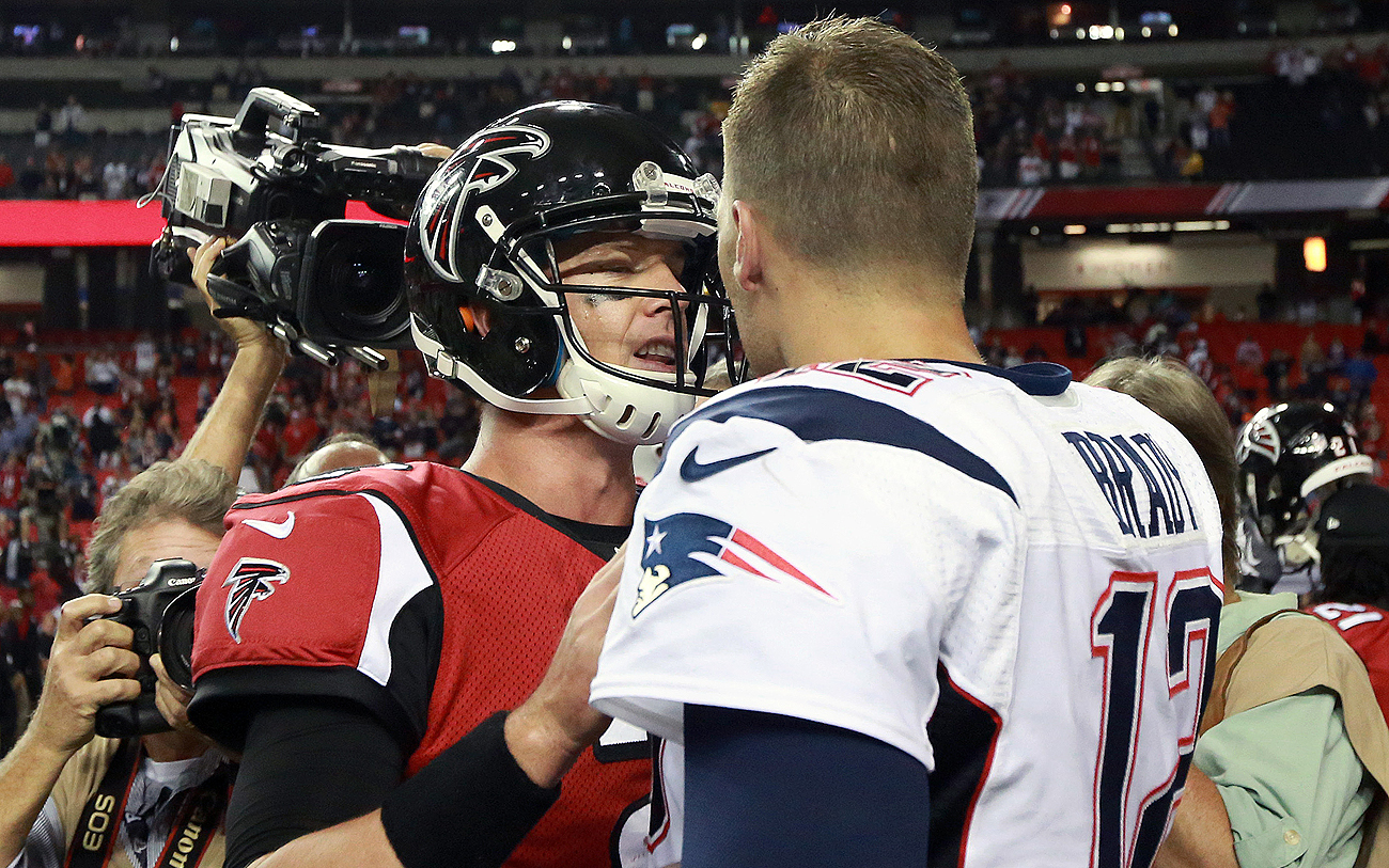 Ryan and Brady last faced each other in September 2013, a 30-23 Patriots win.