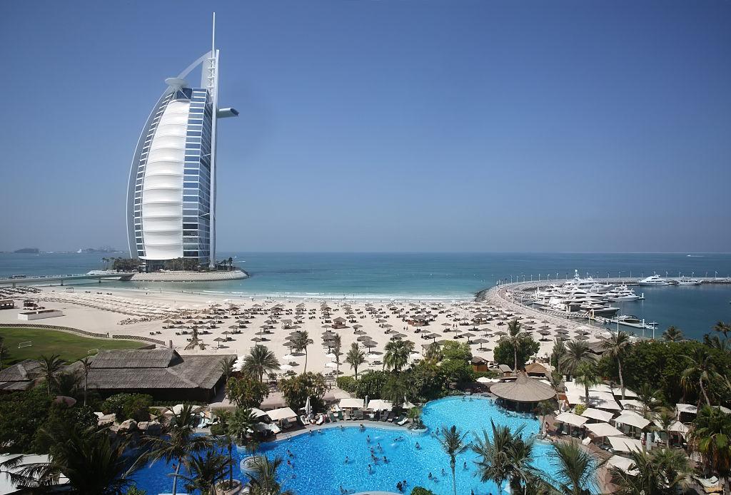 The Burj Al Arab Hotel in Dubai.