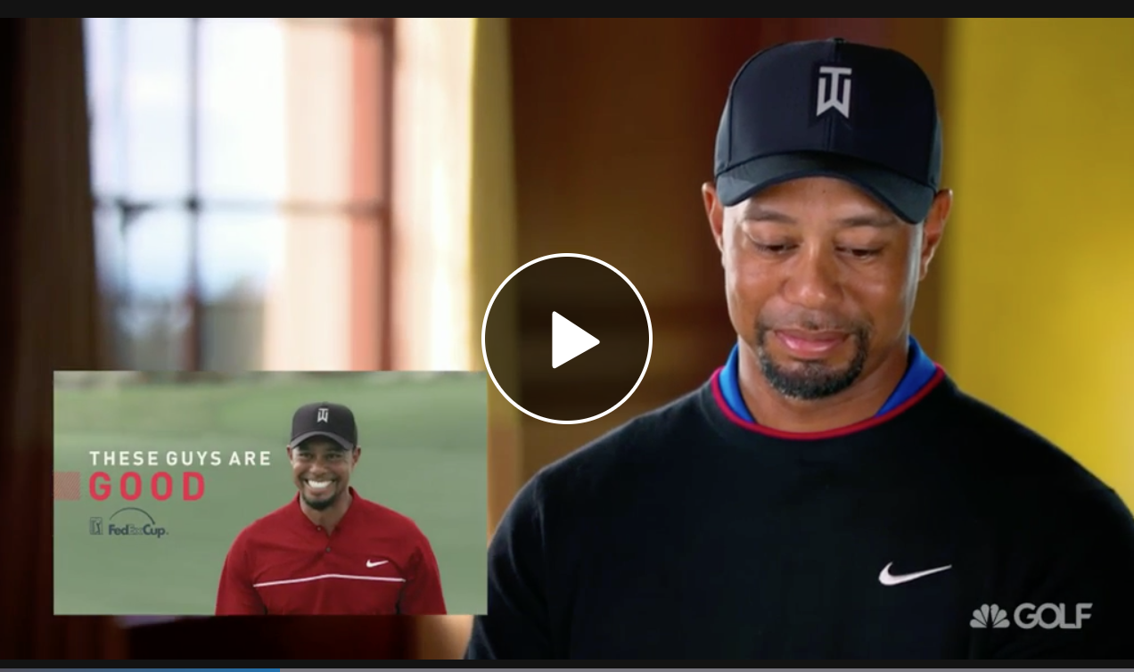 What's it like to watch yourself being honored by your peers? Tiger Woods found out.