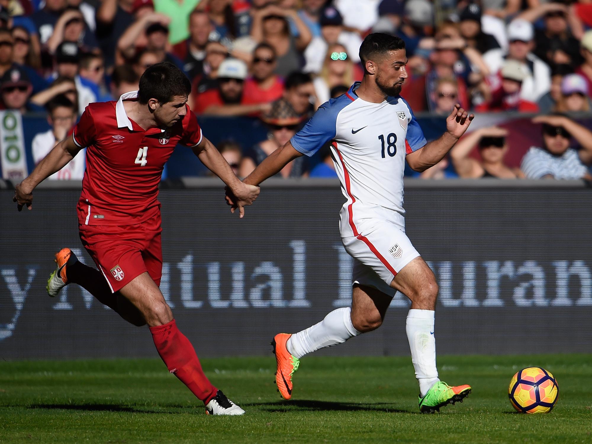 Sebastian Lletget makes his U.S. debut against Serbia