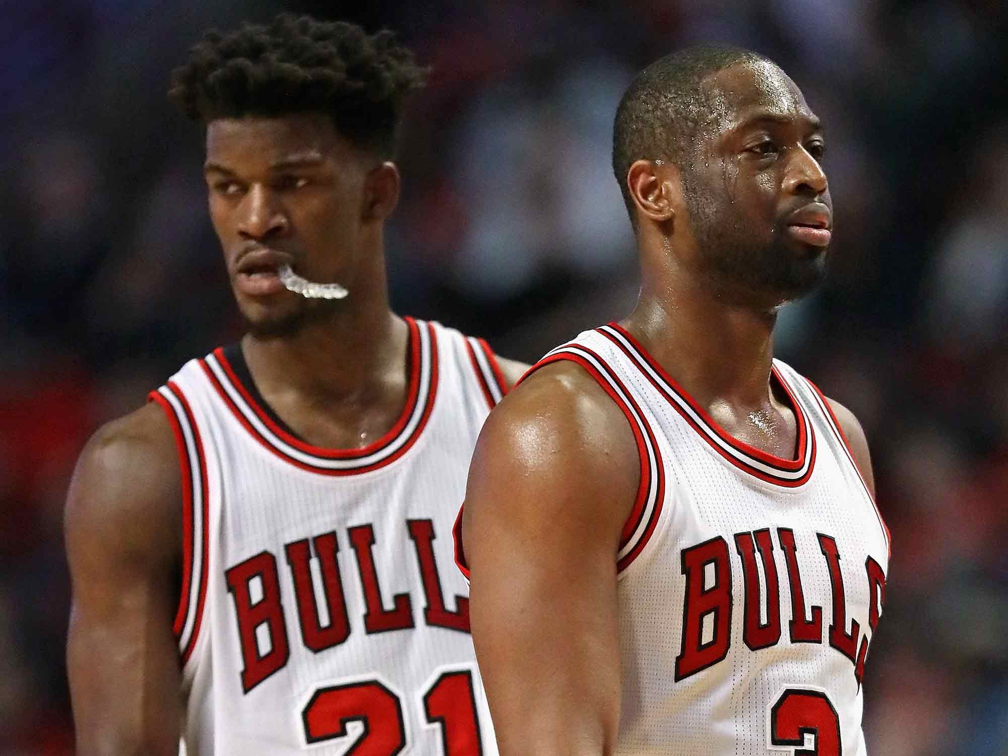 Jimmy Butler and Dwyane Wade