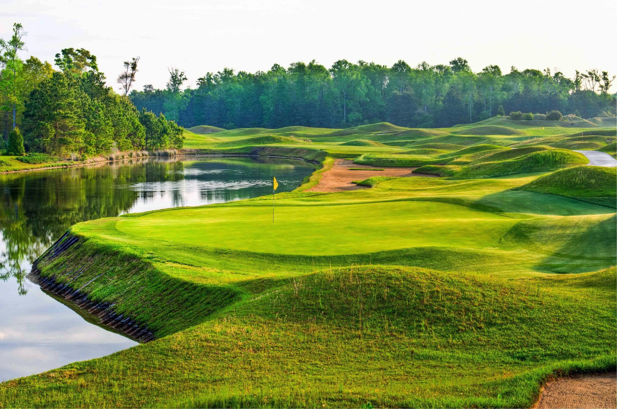 The Dye Course at Barefoot Resort is often risk-reward.