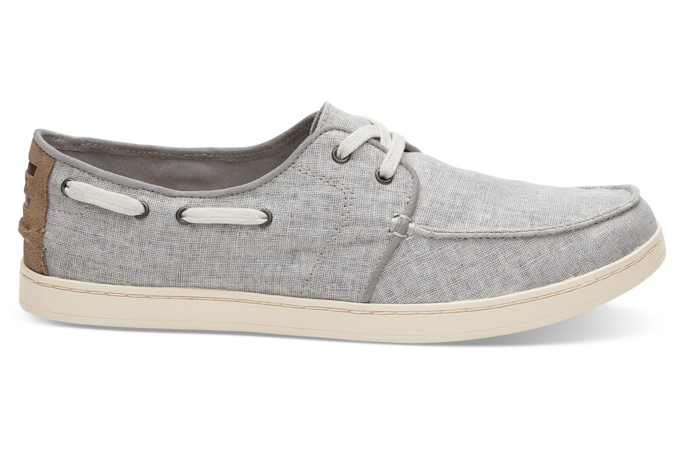 """A durable, stylish shoe for casual wear at the clubhouse and beyond. <a href=""""http://click.linksynergy.com/fs-bin/click?id=93xLBvPhAeE&subid=0&offerid=417191.1&type=10&tmpid=12816&RD_PARM1=http%3A%2F%2Fwww.toms.com%2Fmen%2Fdrizzle-grey-coated-linen-mens-culver-lace-ups&u1=GOLFValentinesMen"""" target=""""blank"""">BUY NOW</a>"""