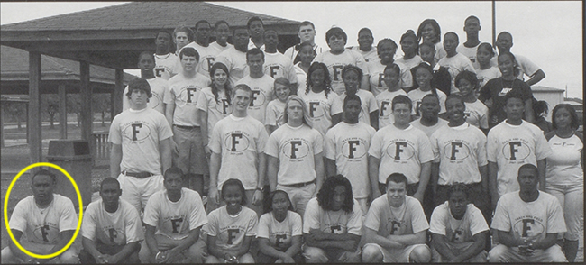 Freshman Julio Jones and the Foley HS track and field team.
