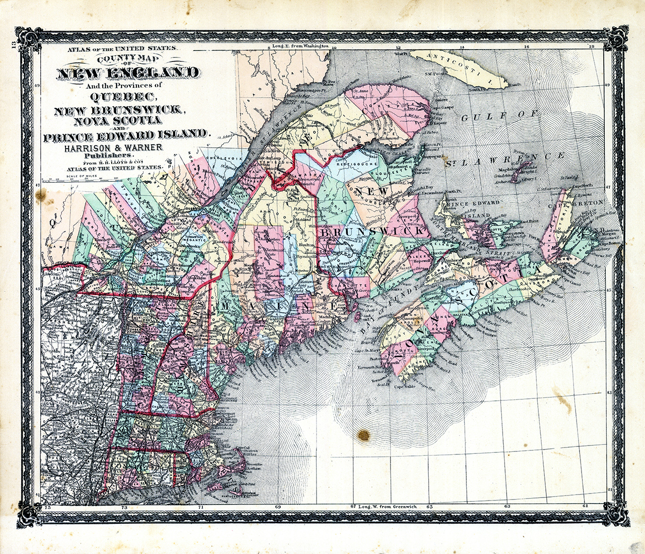 Where is New England States location geography SIcom