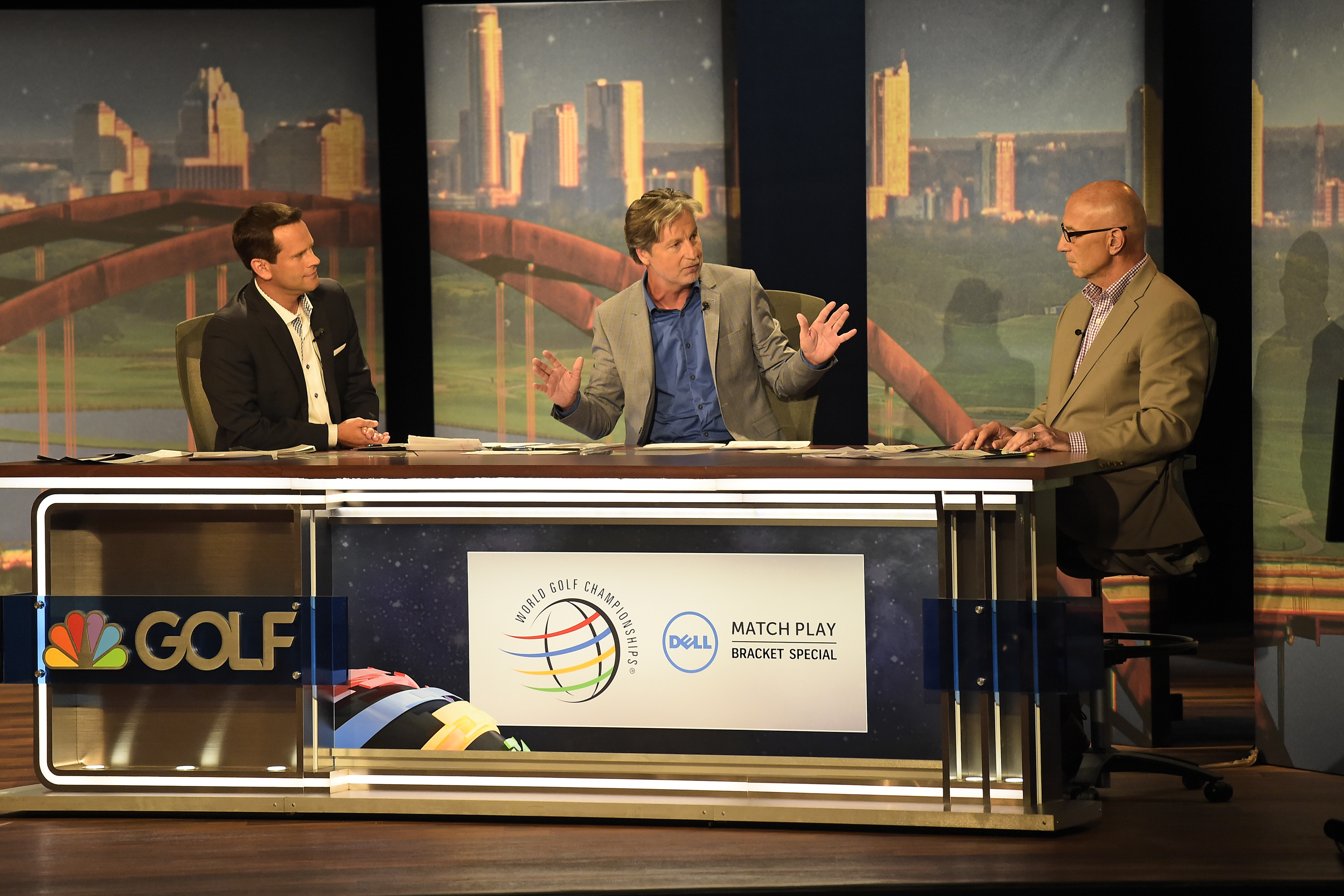 Brandel Chamblee on set at the 2016 WGC Dell Match Play.