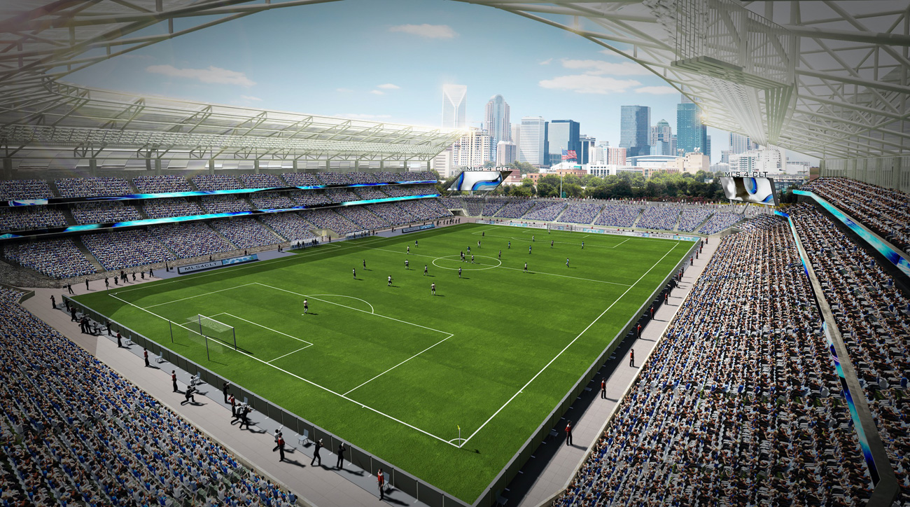 Charlotte's potential MLS stadium
