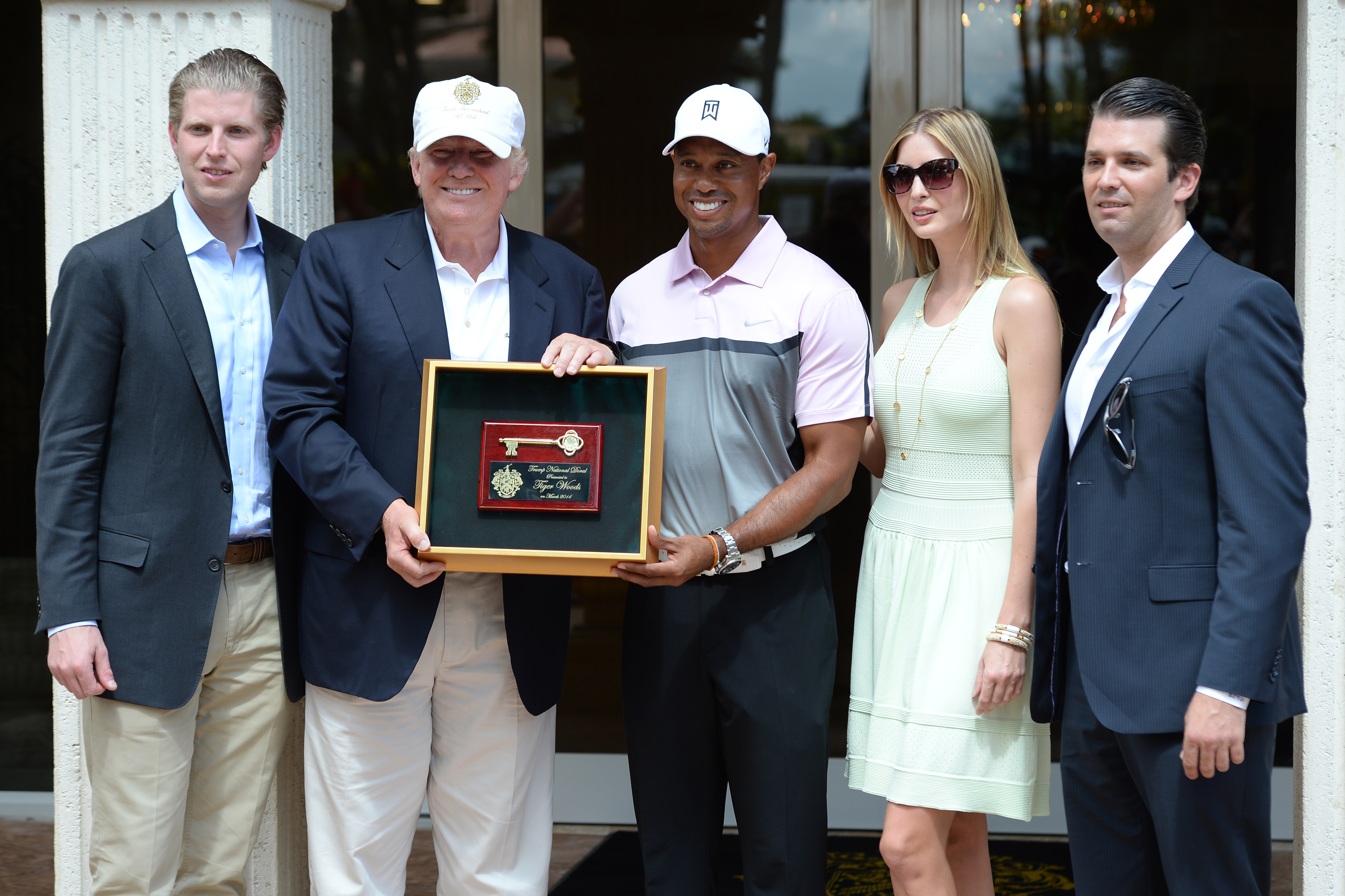 Tiger Woods knows the First Family from his winner's circle days at Trump-owned Doral.