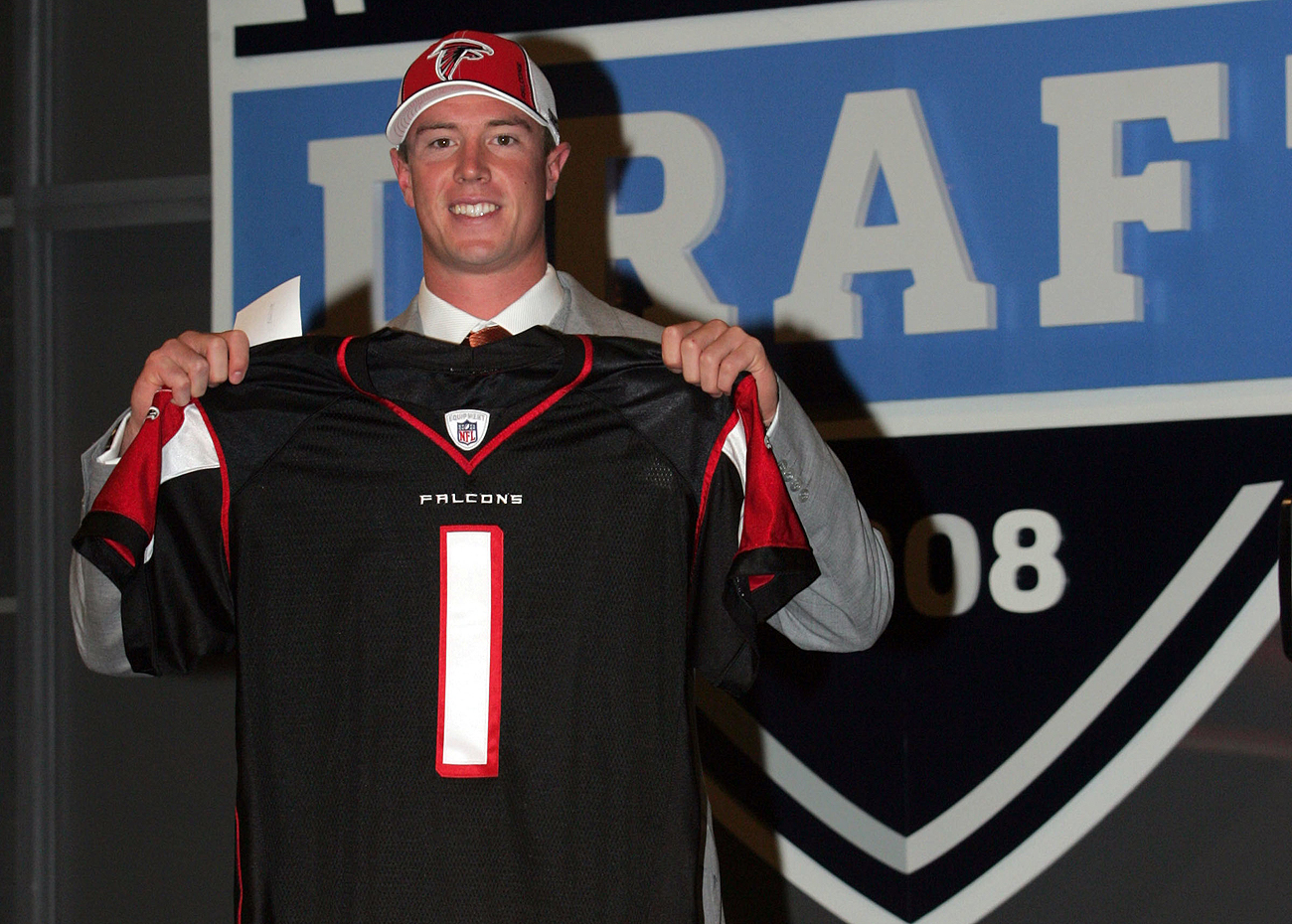 The Falcons selected Matt Ryan with the third overall pick in the 2008 draft.