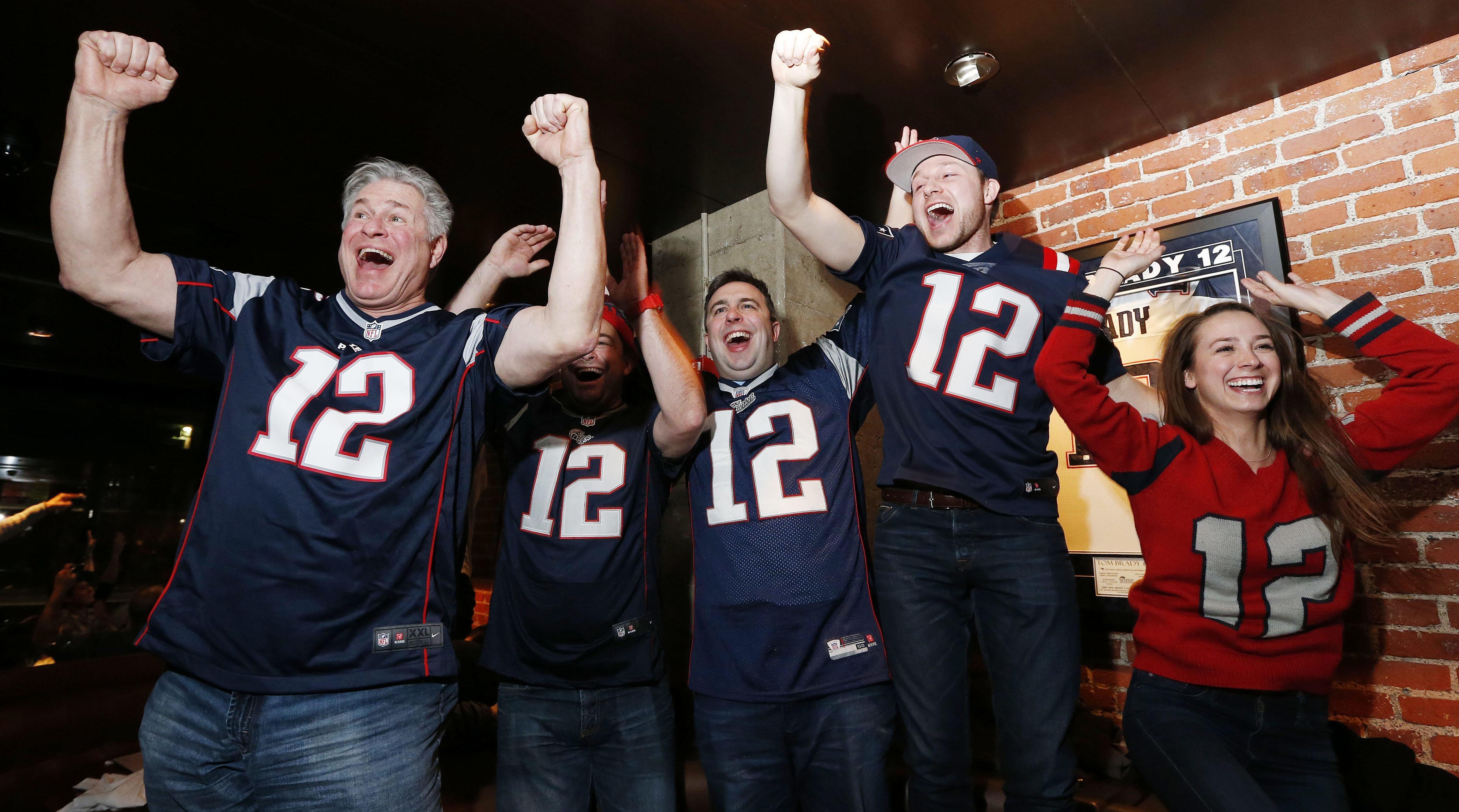 Patriots fans react to James White's Super Bowl-winning touchdown.