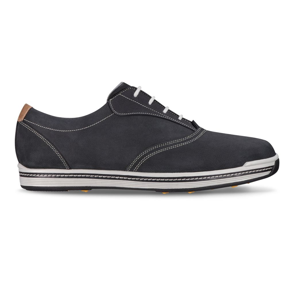 One of the most versatile shoes in the company's lineup, the Contour Casual combines a soft, waterproof full grain leather upper with a lightweight cushioned fit-bed for all day comfort. An anatomically engineered last allows your feet to move naturally during the swing, while rubber lugs on the outsole provide traction.  BUY NOW